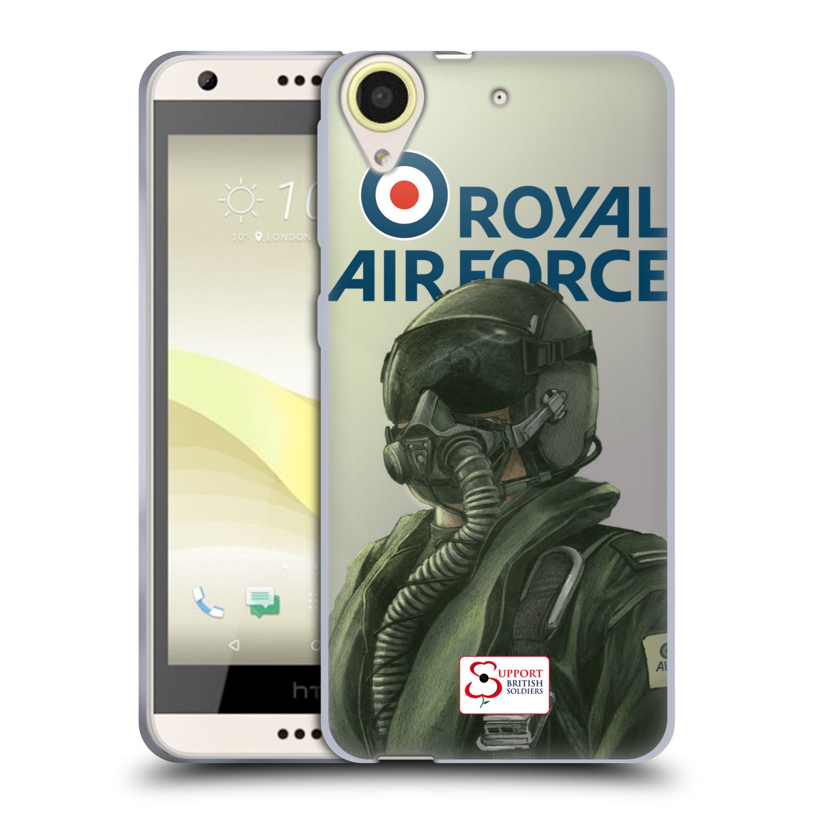 Silikonové pouzdro na mobil HTC Desire 650 HEAD CASE Royal Air Force (Silikonový kryt či obal na mobilní telefon HTC Desire 650)