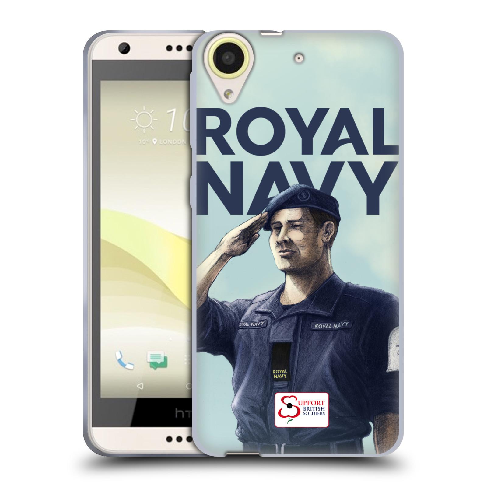 Silikonové pouzdro na mobil HTC Desire 650 HEAD CASE ROYAL NAVY (Silikonový kryt či obal na mobilní telefon HTC Desire 650)