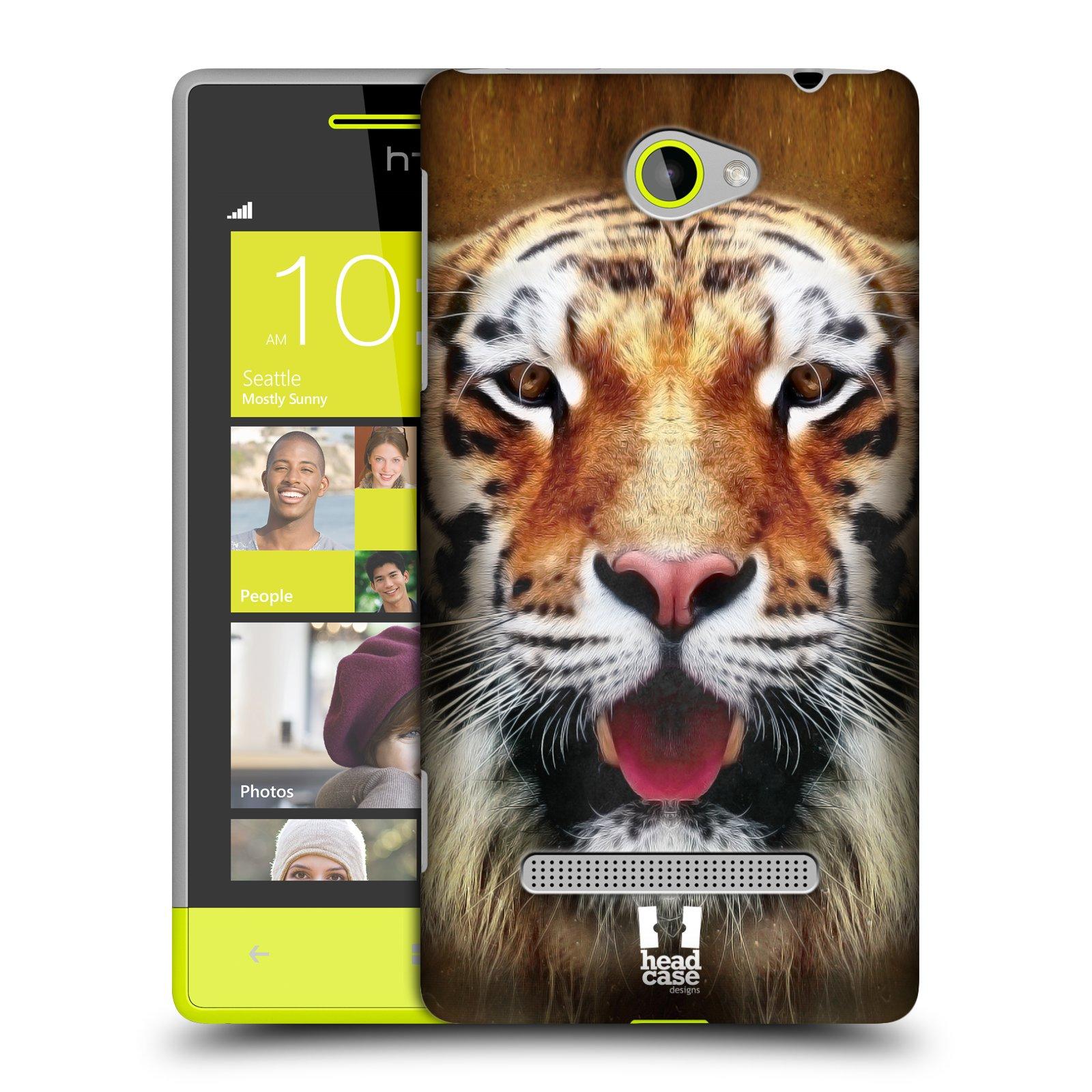 Plastové pouzdro na mobil HTC Windows Phone 8S HEAD CASE TVÁŘ TYGR (Kryt či obal na mobilní telefon HTC Windows Phone 8S)