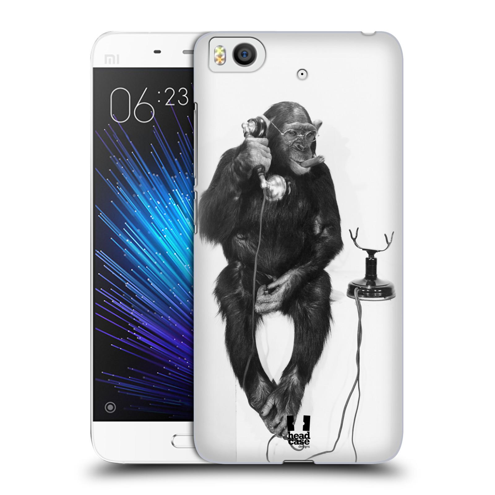 Plastové pouzdro na mobil Xiaomi Mi5s - Head Case OPIČÁK S TELEFONEM (Plastový kryt či obal na mobilní telefon Xiaomi Mi5s)