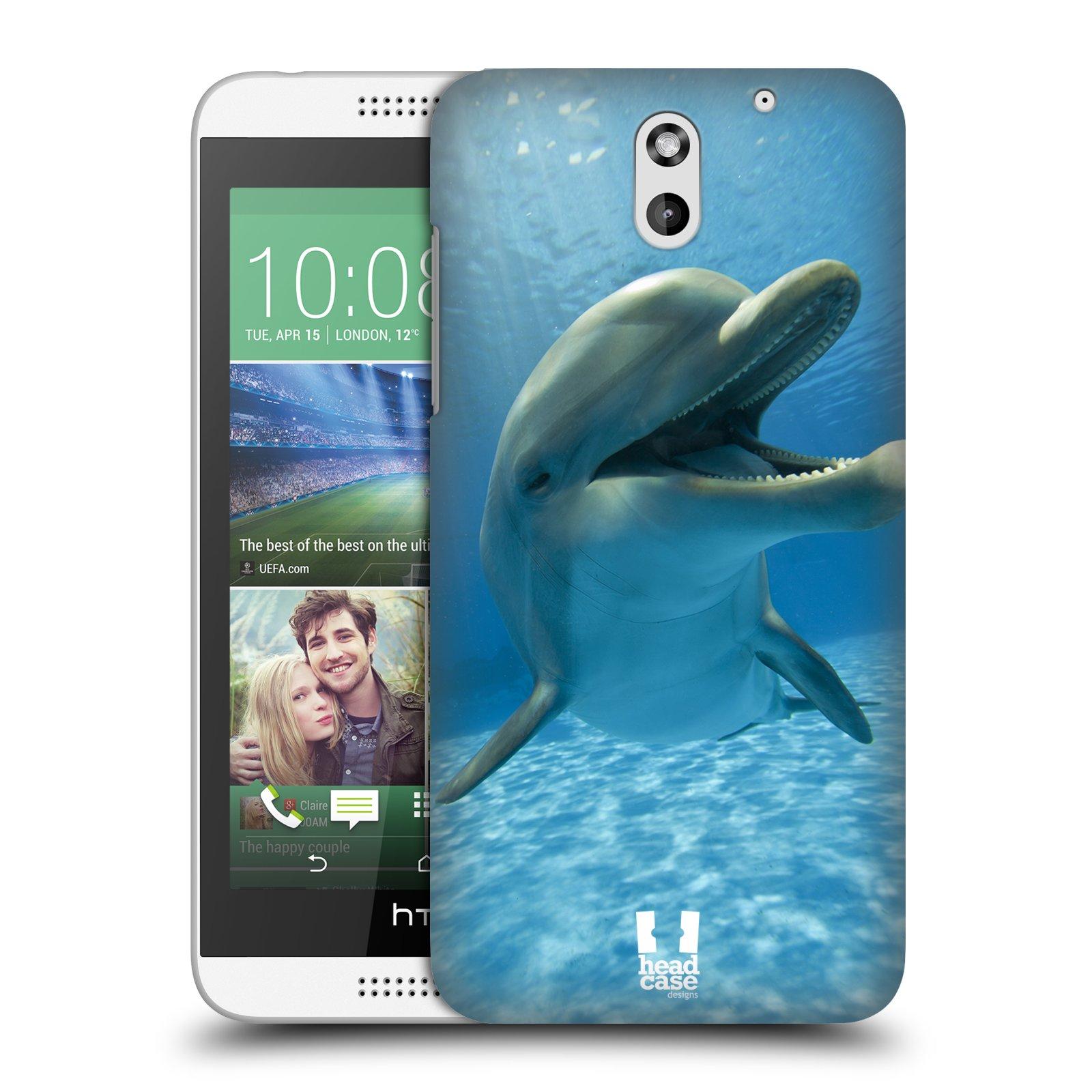Plastové pouzdro na mobil HTC Desire 610 HEAD CASE DIVOČINA – DELFÍN (Kryt či obal na mobilní telefon HTC Desire 610)