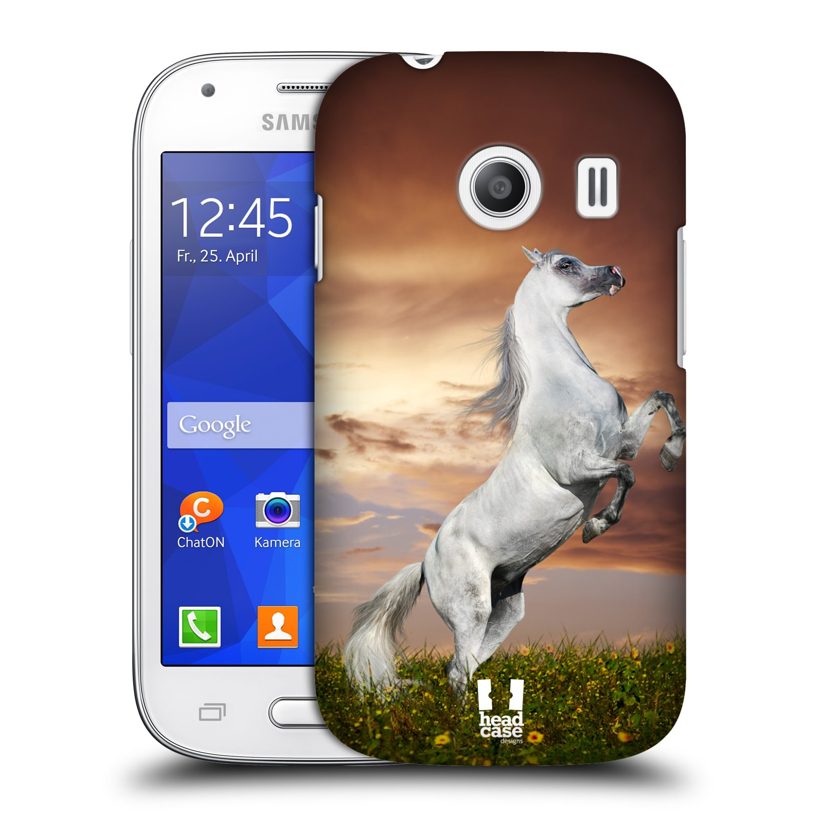 Plastové pouzdro na mobil Samsung Galaxy Ace Style HEAD CASE DIVOČINA – KŮŇ