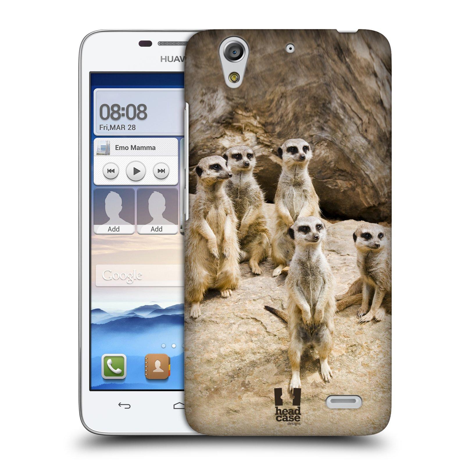 Plastové pouzdro na mobil Huawei Ascend G630 HEAD CASE DIVOČINA – SURIKATY (Kryt či obal na mobilní telefon Huawei Ascend G630)