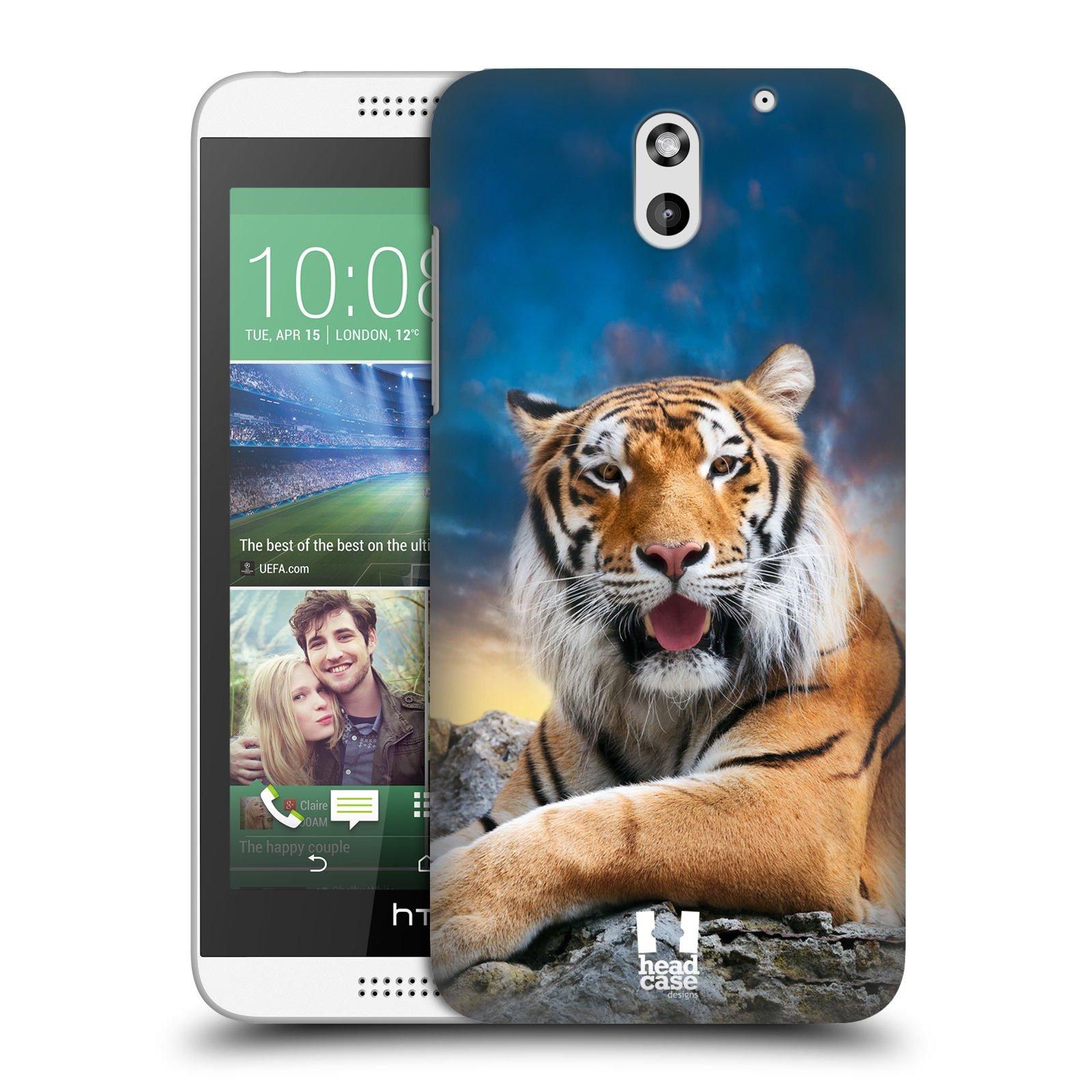 Plastové pouzdro na mobil HTC Desire 610 HEAD CASE DIVOČINA – TYGR (Kryt či obal na mobilní telefon HTC Desire 610)