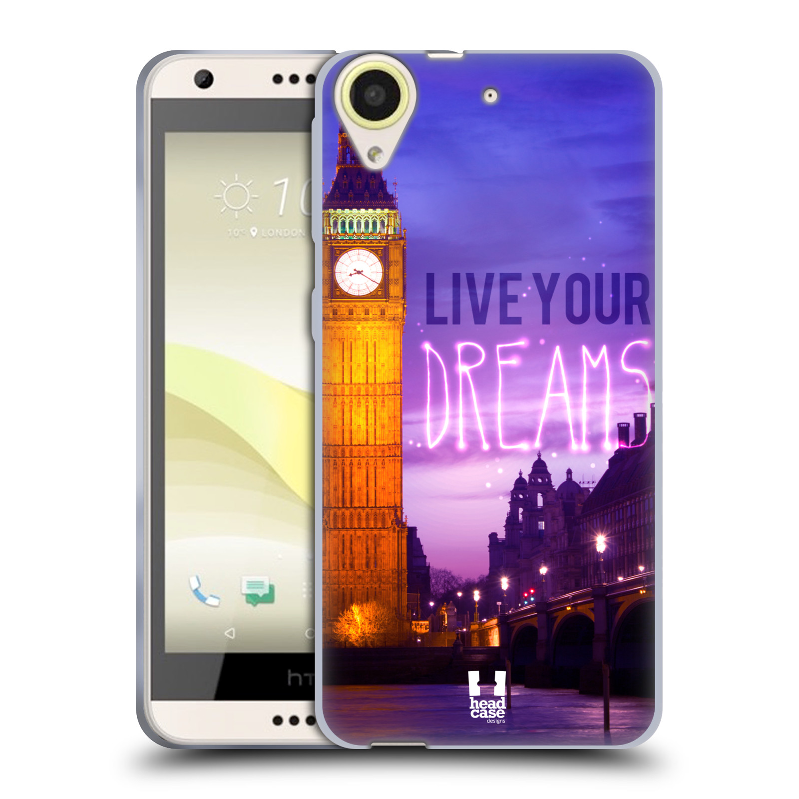 Silikonové pouzdro na mobil HTC Desire 650 HEAD CASE DREAMS (Silikonový kryt či obal na mobilní telefon HTC Desire 650)