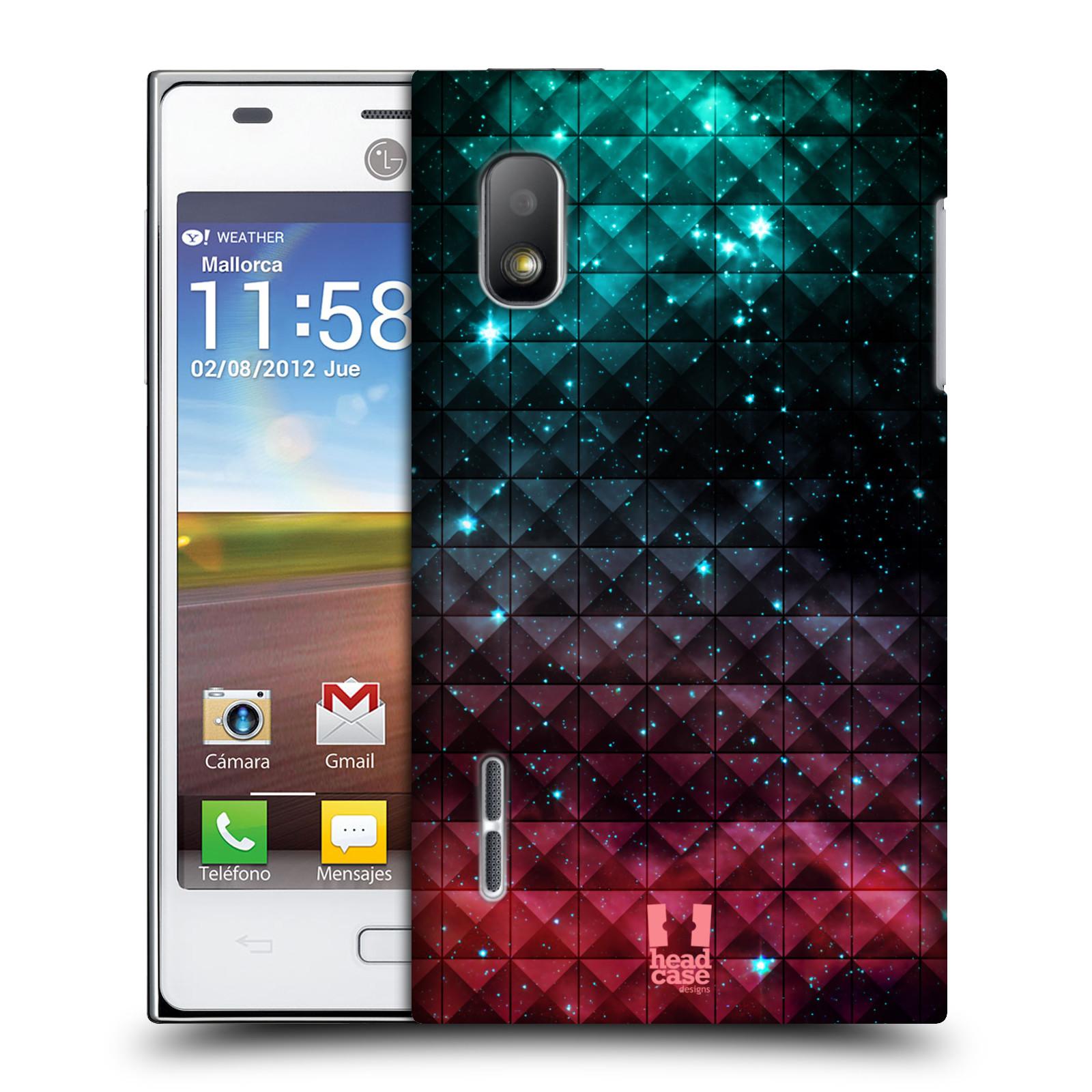 Plastové pouzdro na mobil LG Optimus L5 HEAD CASE OMBRE SPARKLE (Kryt či obal na mobilní telefon LG Optimus L5 E610)