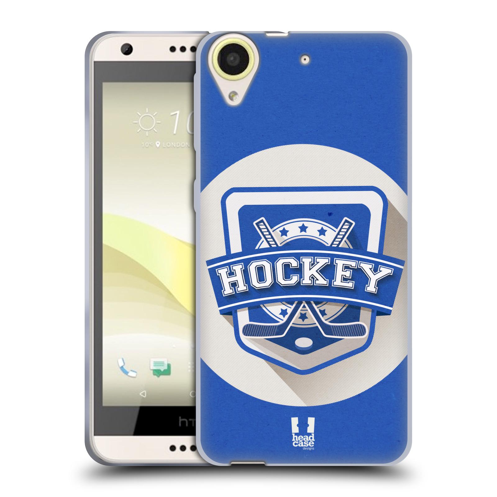 Silikonové pouzdro na mobil HTC Desire 650 HEAD CASE HOKEJ (Silikonový kryt či obal na mobilní telefon HTC Desire 650)