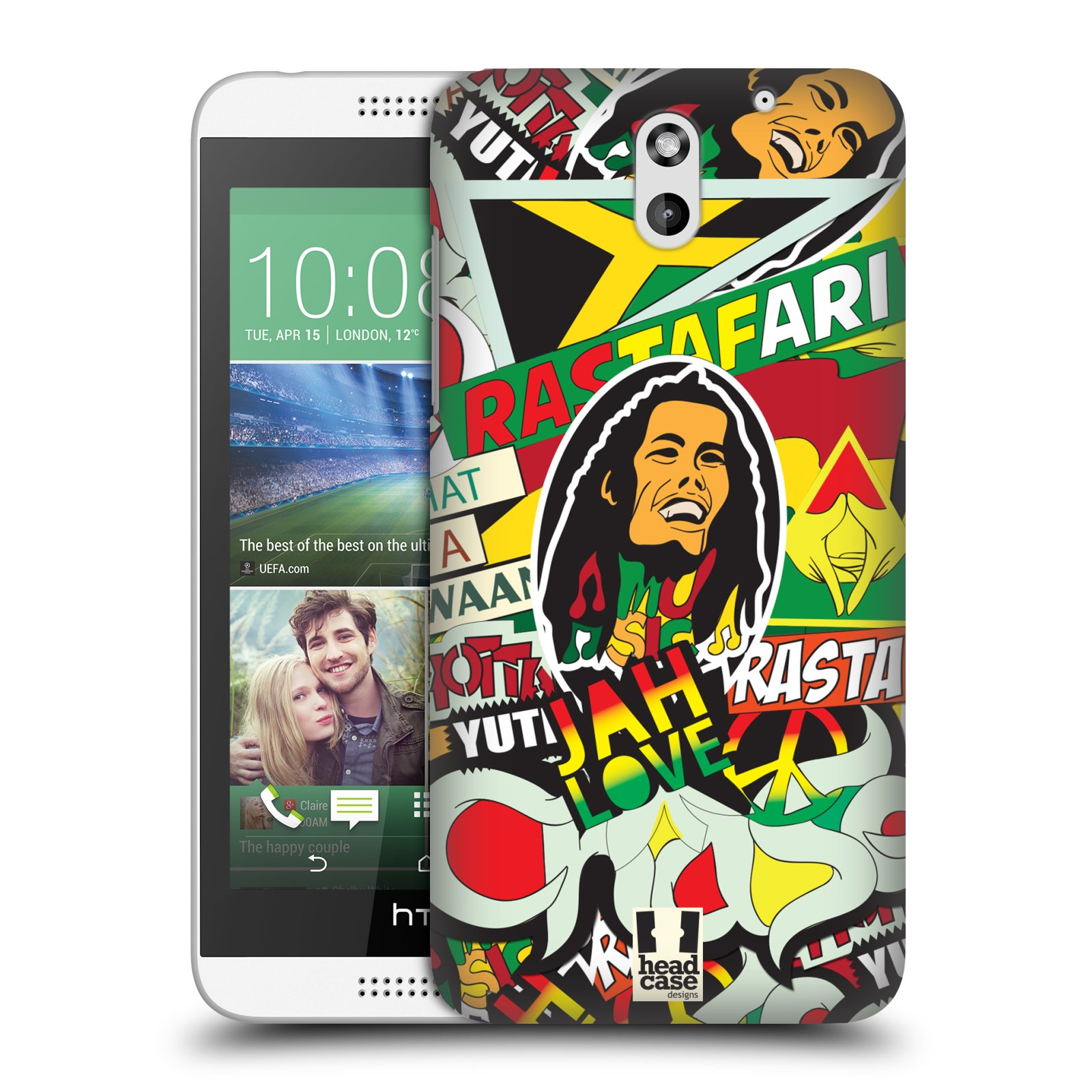 Plastové pouzdro na mobil HTC Desire 610 HEAD CASE RASTA (Kryt či obal na mobilní telefon HTC Desire 610)