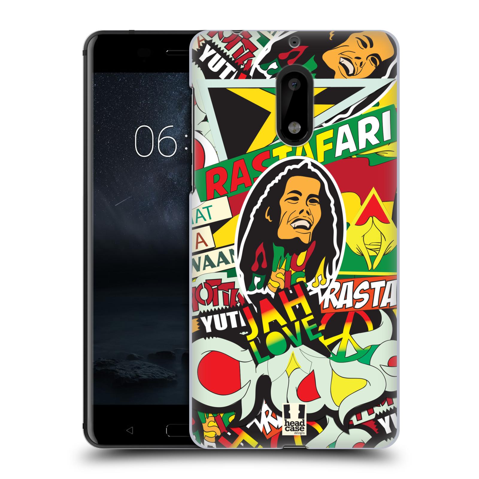 Plastové pouzdro na mobil Nokia 6 - Head Case RASTA (Plastový kryt či obal na mobilní telefon Nokia 6 (Dual SIM))
