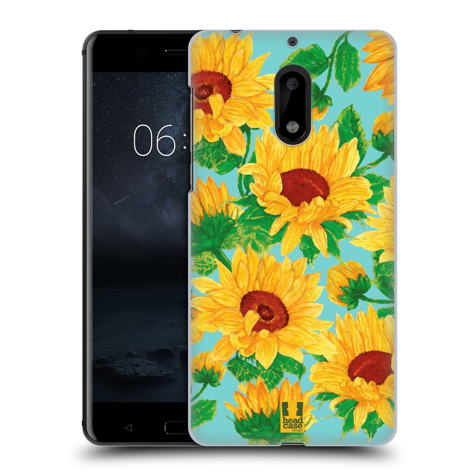 Plastové pouzdro na mobil Nokia 6 - Head Case Slunečnice (Plastový kryt či obal na mobilní telefon Nokia 6 (Dual SIM))