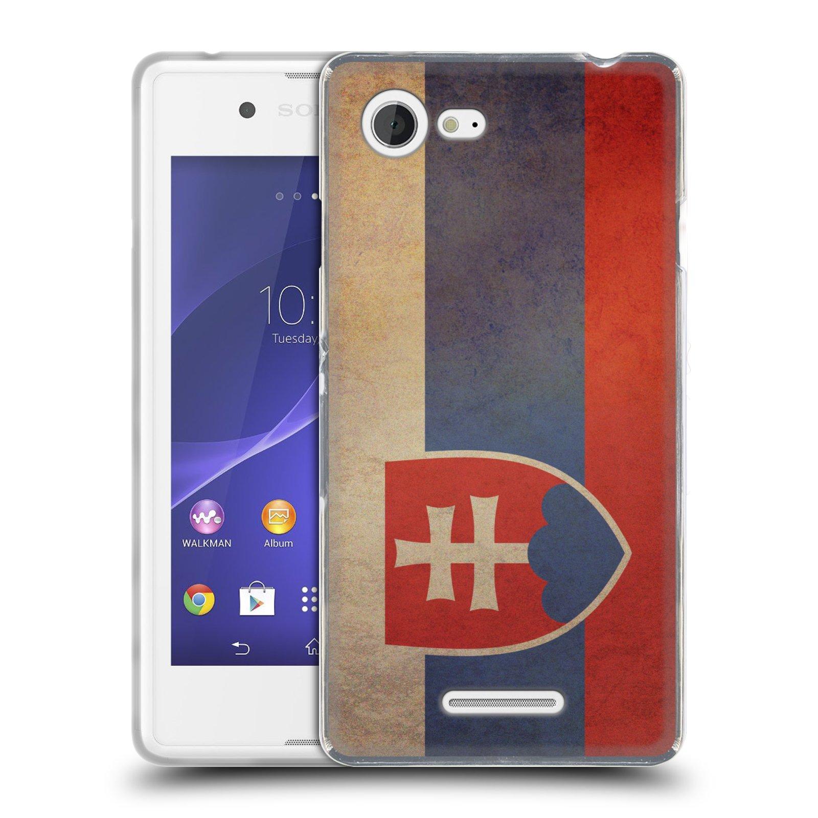 Silikonové pouzdro na mobil Sony Xperia E3 D2203 HEAD CASE VLAJKA SLOVENSKO