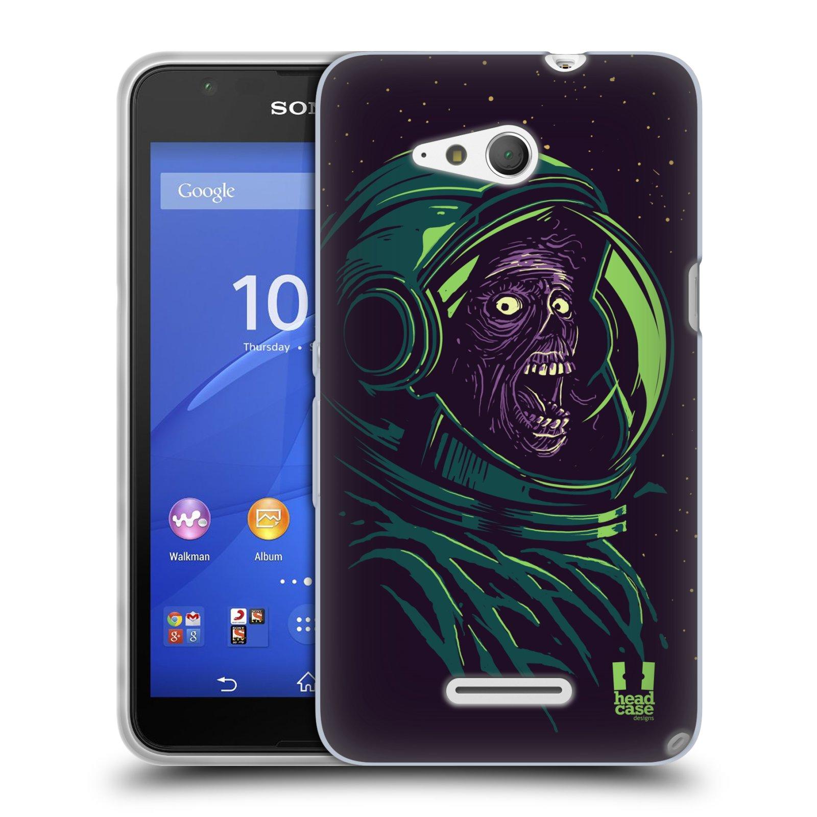 Silikonové pouzdro na mobil Sony Xperia E4g E2003 HEAD CASE ZOMBIE VESMÍR (Silikonový kryt či obal na mobilní telefon Sony Xperia E4g a E4g Dual SIM)