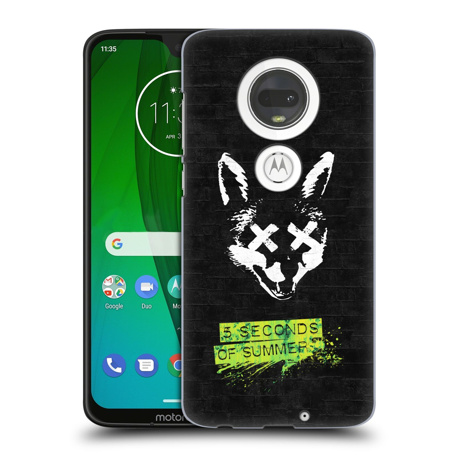 Plastové pouzdro na mobil Motorola Moto G7 - Head Case - 5 Seconds of Summer - Fox