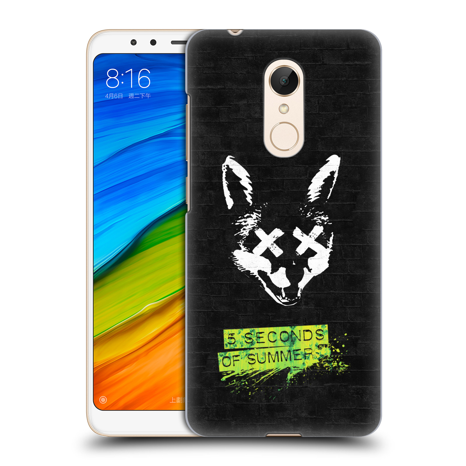 Plastové pouzdro na mobil Xiaomi Redmi 5 - Head Case - 5 Seconds of Summer - Fox