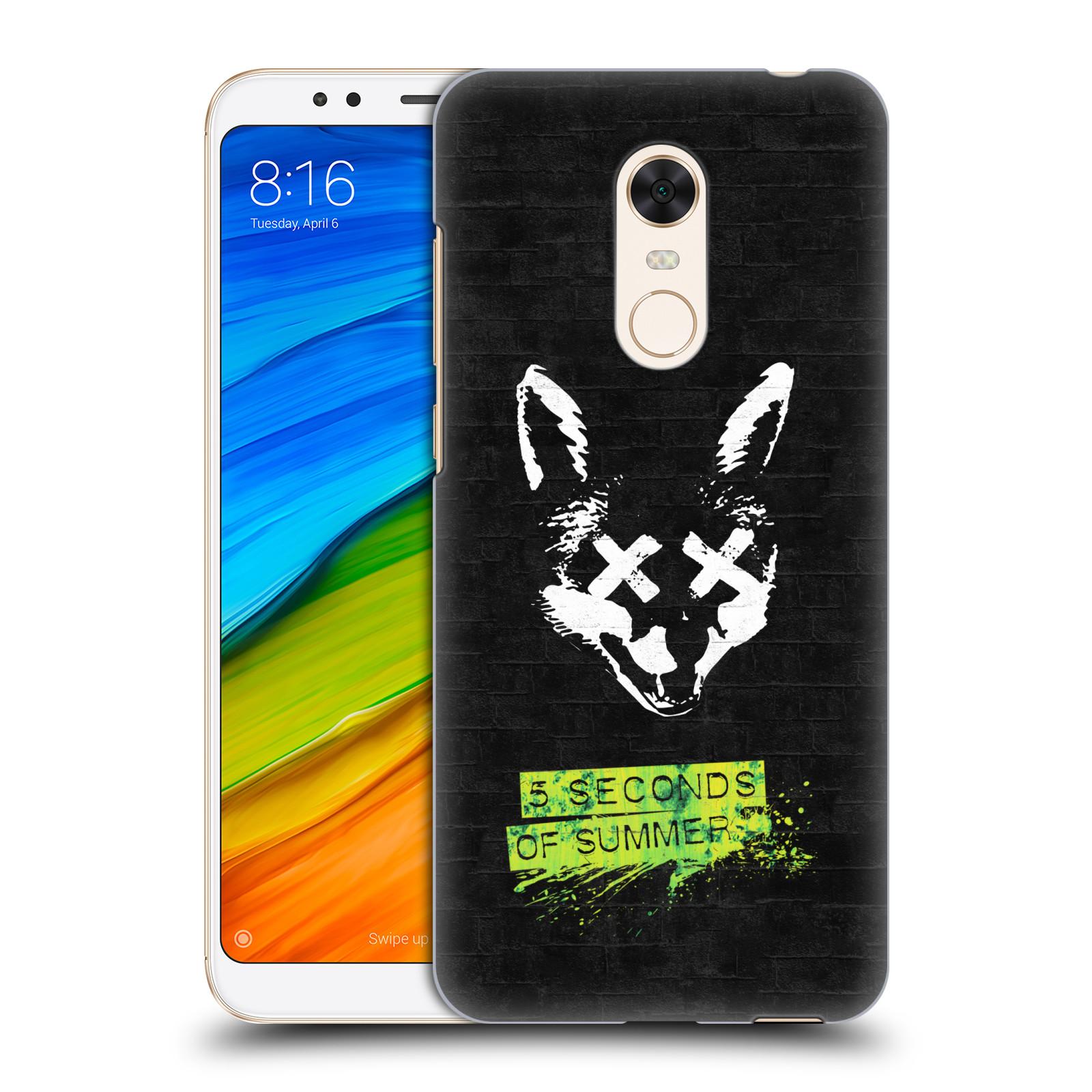 Plastové pouzdro na mobil Xiaomi Redmi 5 Plus - Head Case - 5 Seconds of Summer - Fox