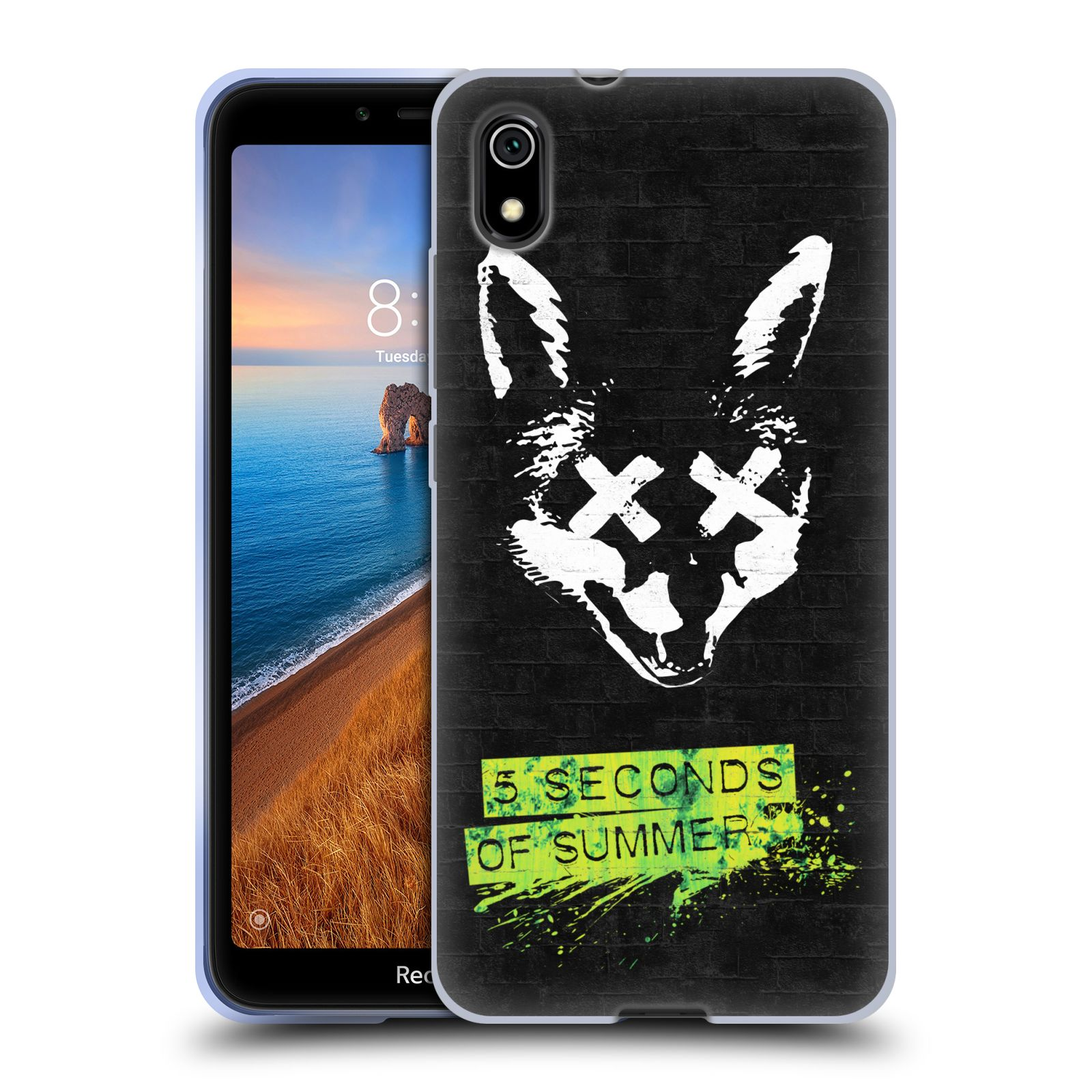 Silikonové pouzdro na mobil Redmi 7A - Head Case - 5 Seconds of Summer - Fox
