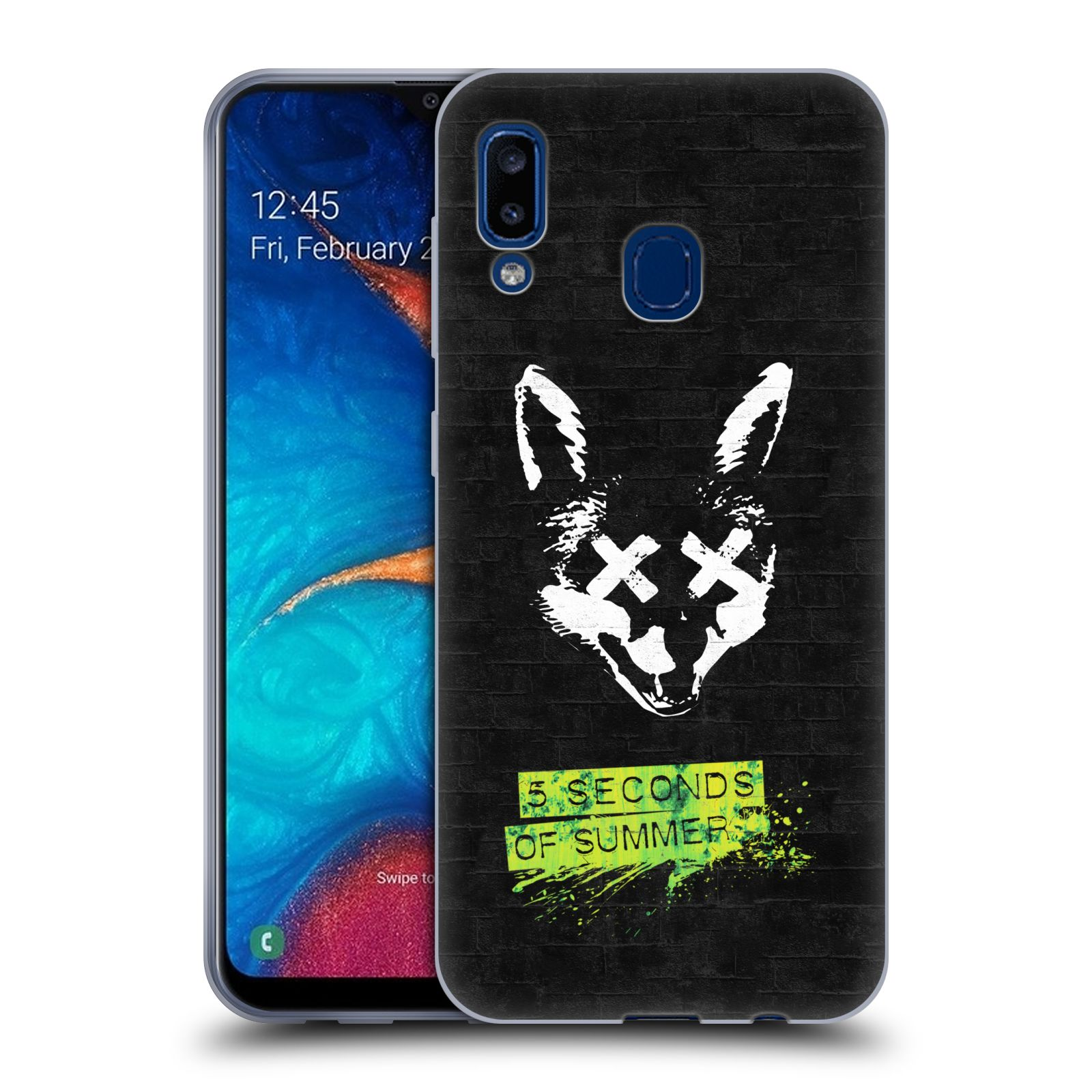 Silikonové pouzdro na mobil Samsung Galaxy A20 - Head Case - 5 Seconds of Summer - Fox