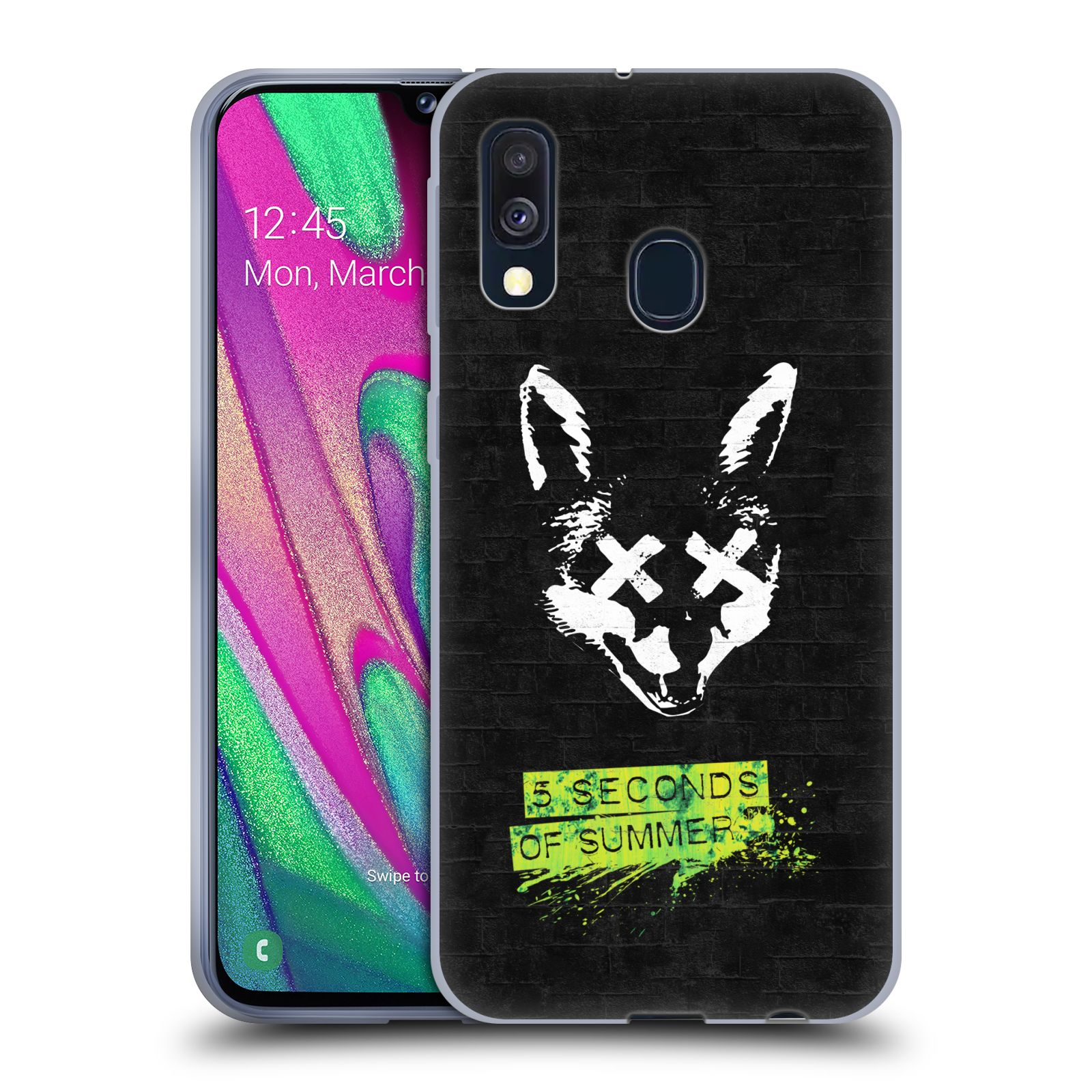 Silikonové pouzdro na mobil Samsung Galaxy A40 - Head Case - 5 Seconds of Summer - Fox