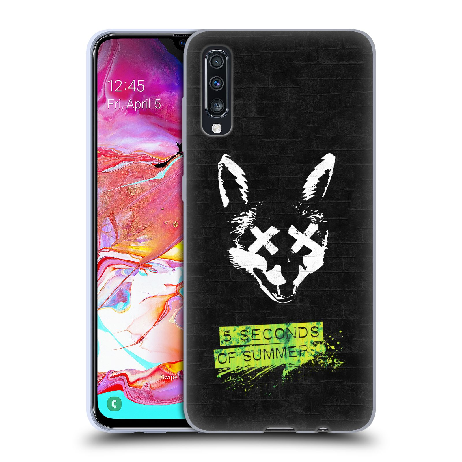 Silikonové pouzdro na mobil Samsung Galaxy A70 - Head Case - 5 Seconds of Summer - Fox