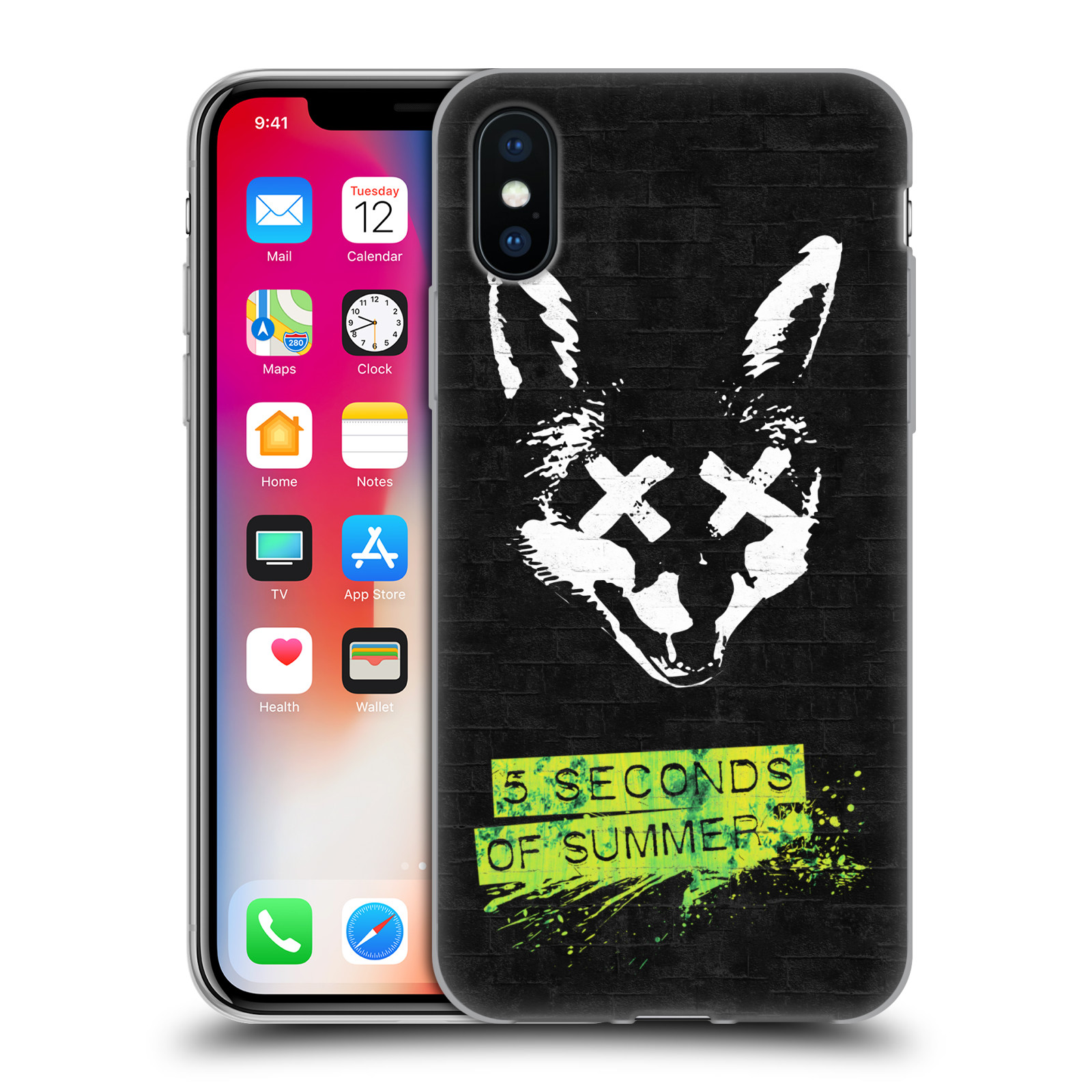 Silikonové pouzdro na mobil Apple iPhone XS - Head Case - 5 Seconds of Summer - Fox