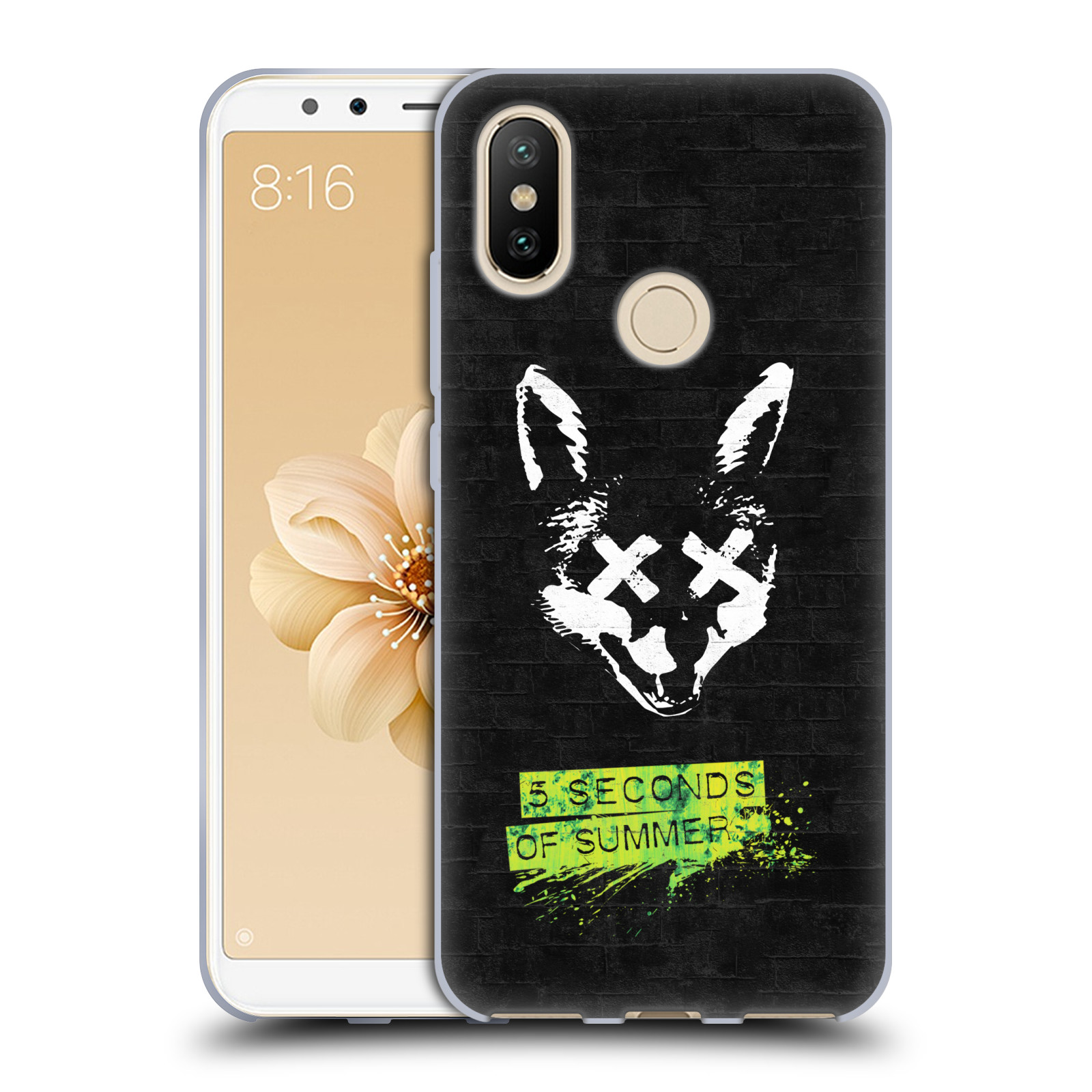 Silikonové pouzdro na mobil Xiaomi Mi A2 - Head Case - 5 Seconds of Summer - Fox