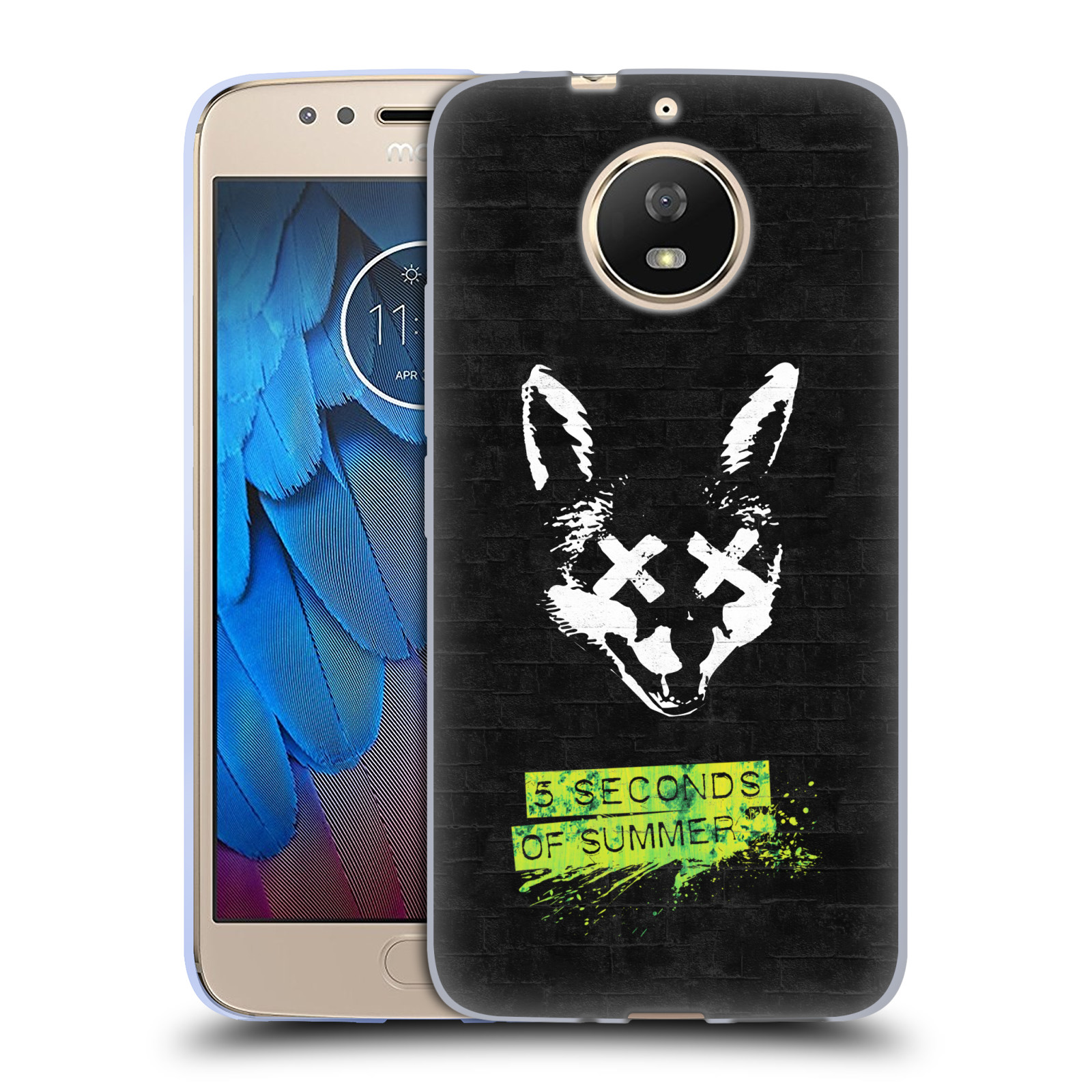 Silikonové pouzdro na mobil Lenovo Moto G5s - Head Case - 5 Seconds of Summer - Fox