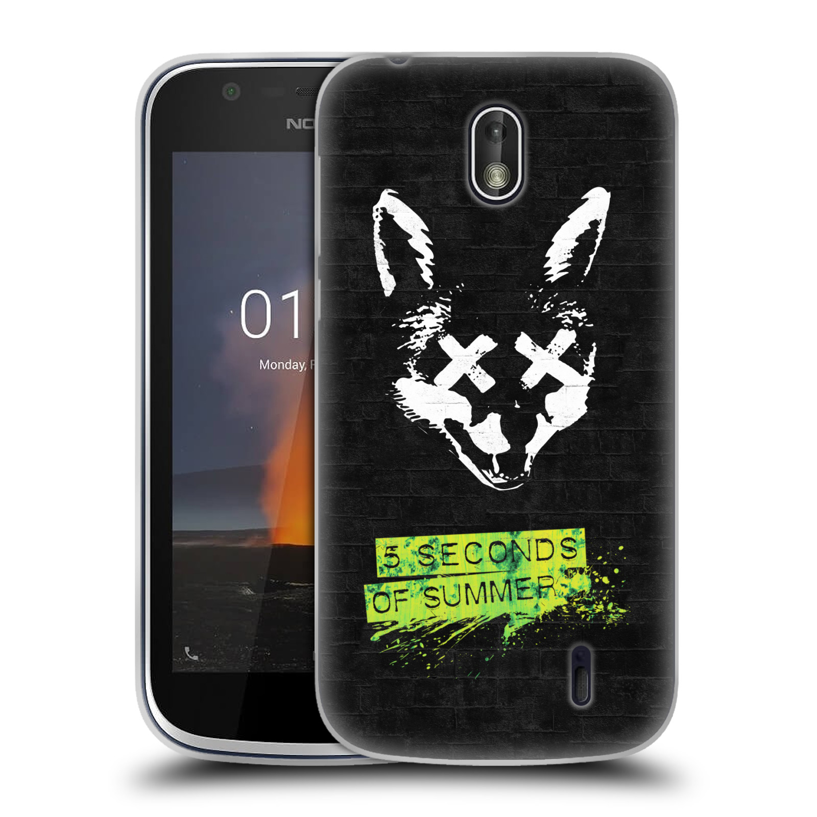 Silikonové pouzdro na mobil Nokia 1 - Head Case - 5 Seconds of Summer - Fox
