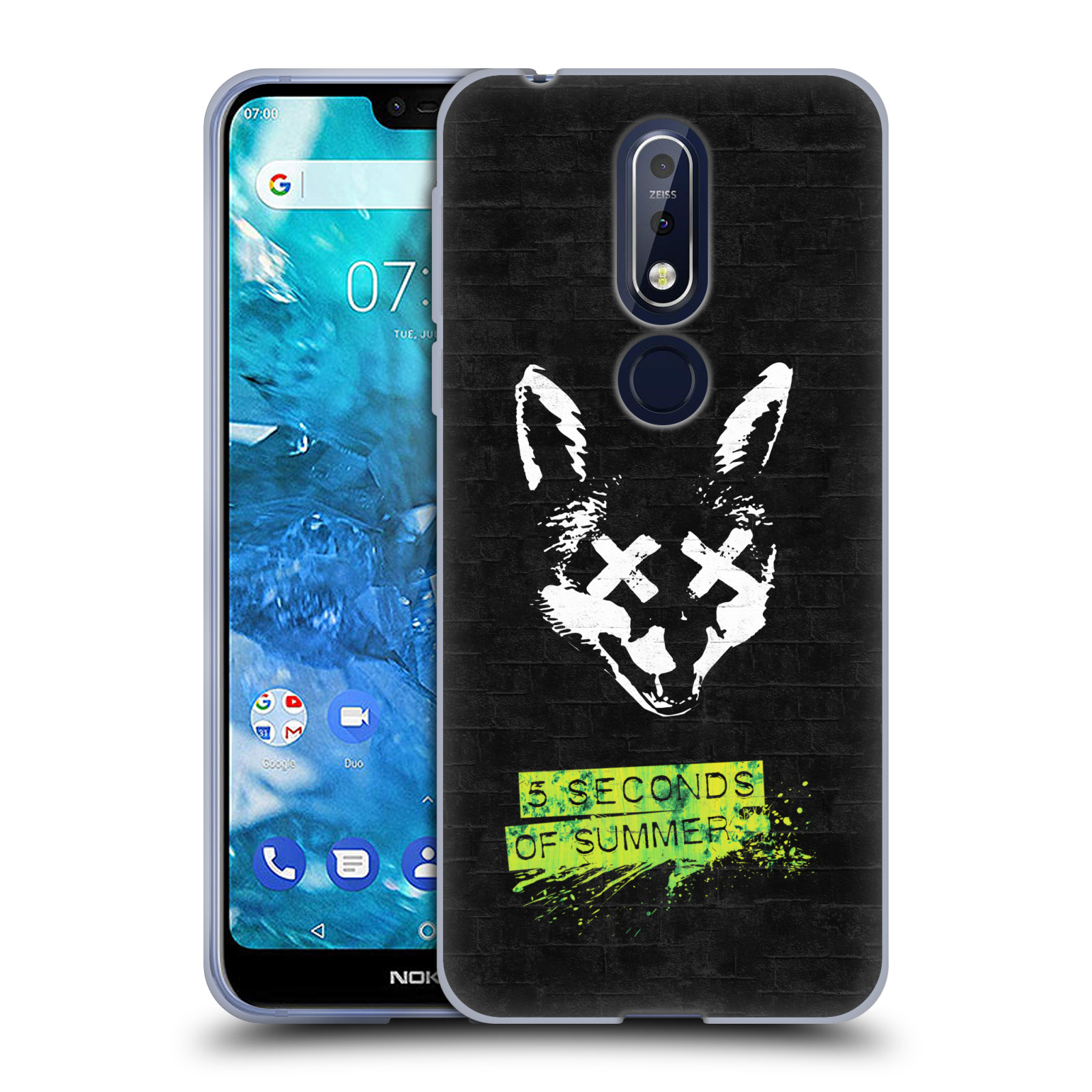 Silikonové pouzdro na mobil Nokia 7.1 - Head Case - 5 Seconds of Summer - Fox