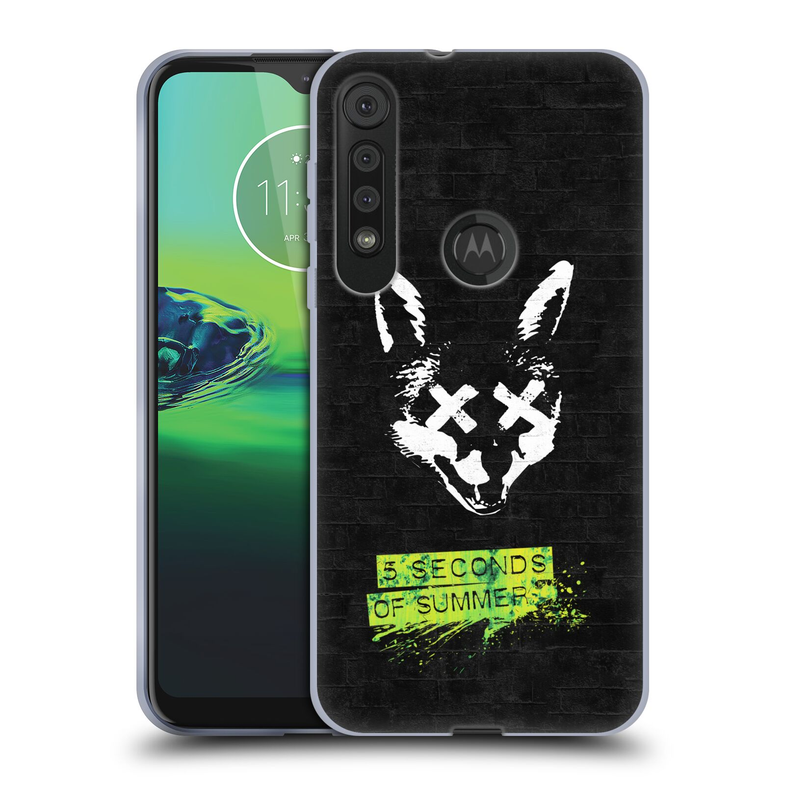 Silikonové pouzdro na mobil Motorola One Macro - Head Case - 5 Seconds of Summer - Fox