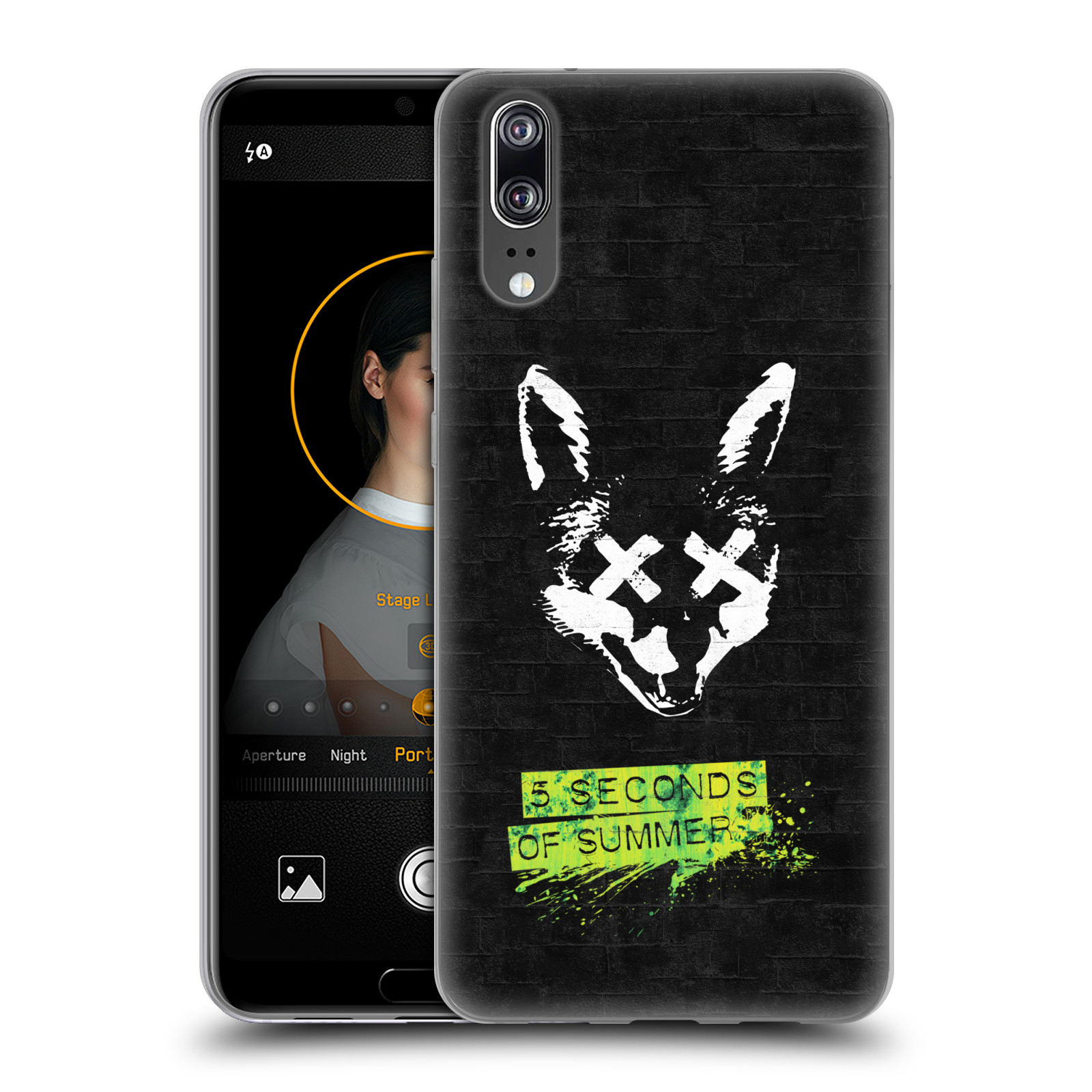 Silikonové pouzdro na mobil Huawei P20 - Head Case - 5 Seconds of Summer - Fox