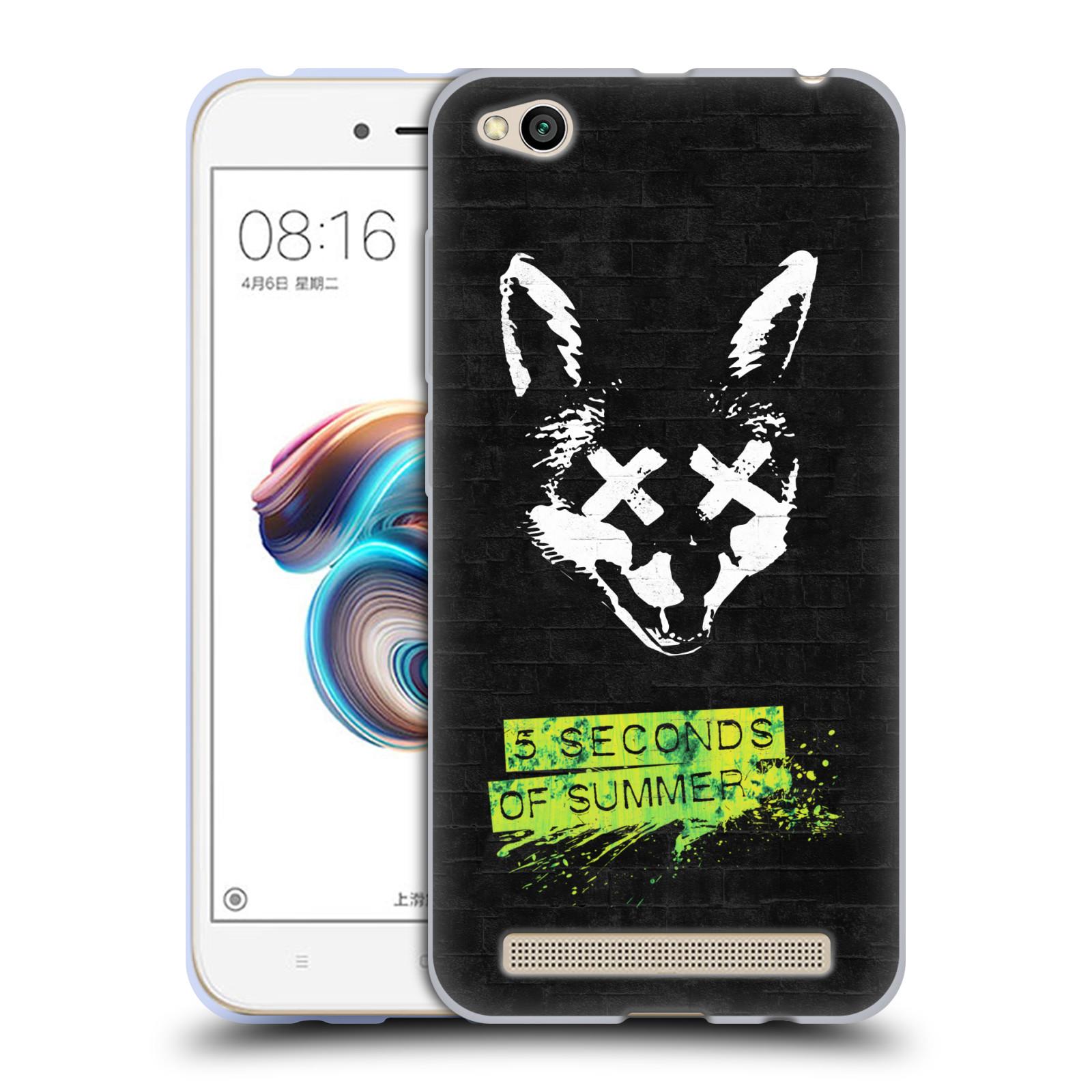 Silikonové pouzdro na mobil Xiaomi Redmi 5A - Head Case - 5 Seconds of Summer - Fox