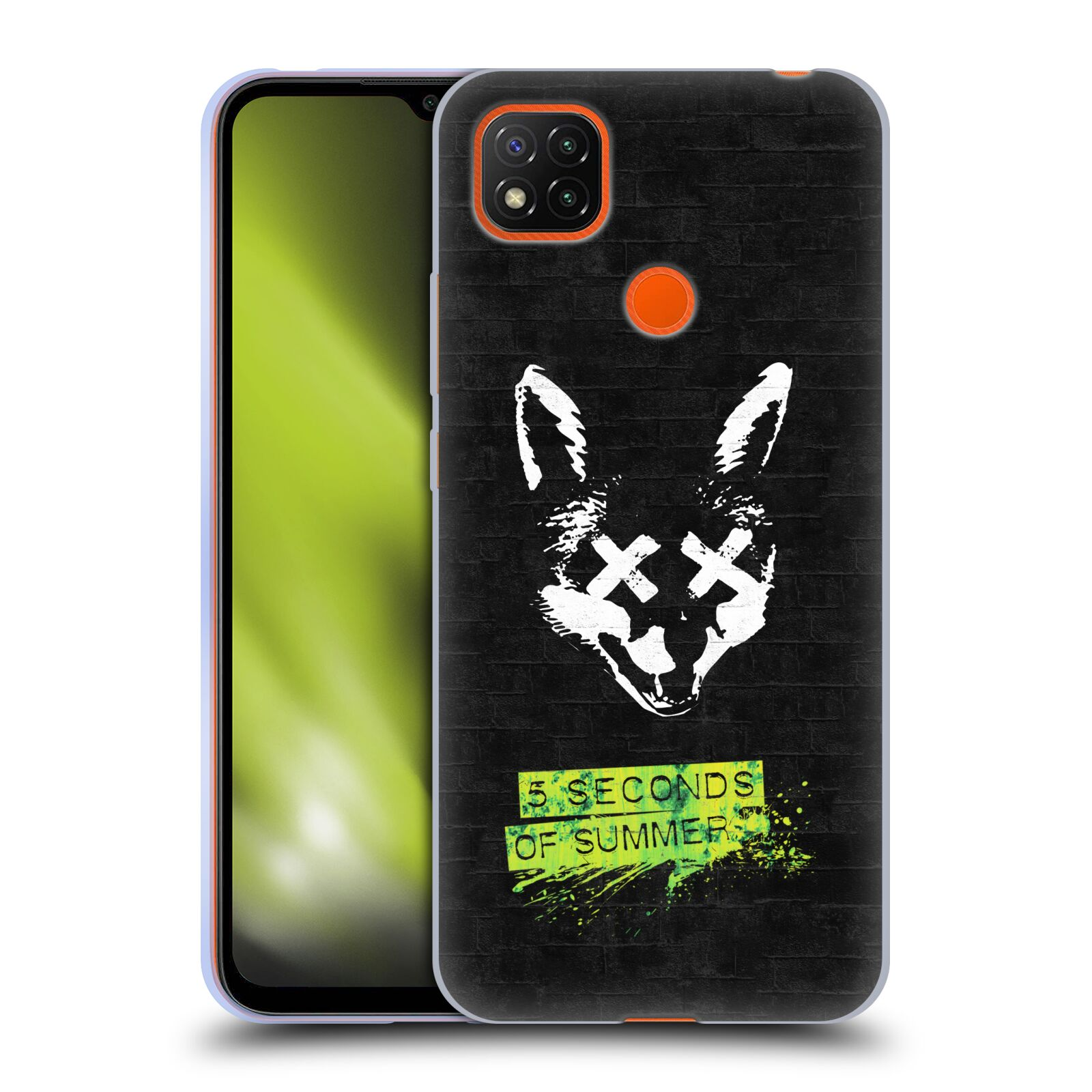 Silikonové pouzdro na mobil Xiaomi Redmi 9C - Head Case - 5 Seconds of Summer - Fox