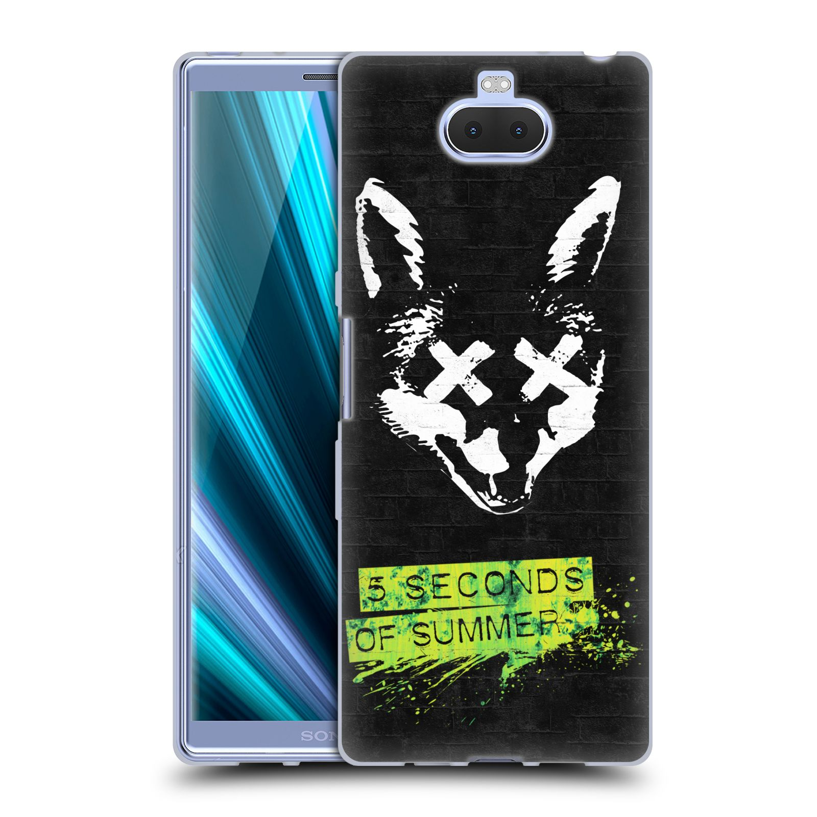Silikonové pouzdro na mobil Sony Xperia 10 Plus - Head Case - 5 Seconds of Summer - Fox