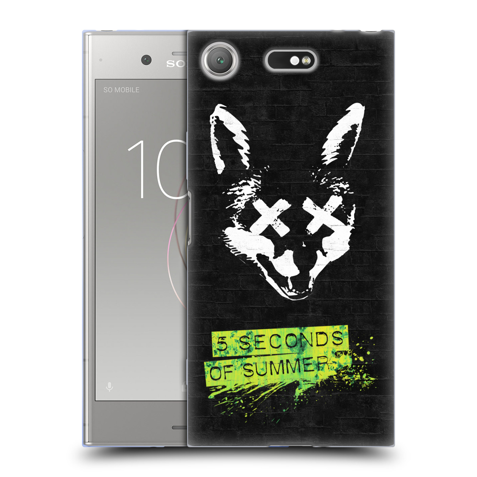 Silikonové pouzdro na mobil Sony Xperia XZ1 Compact - Head Case - 5 Seconds of Summer - Fox