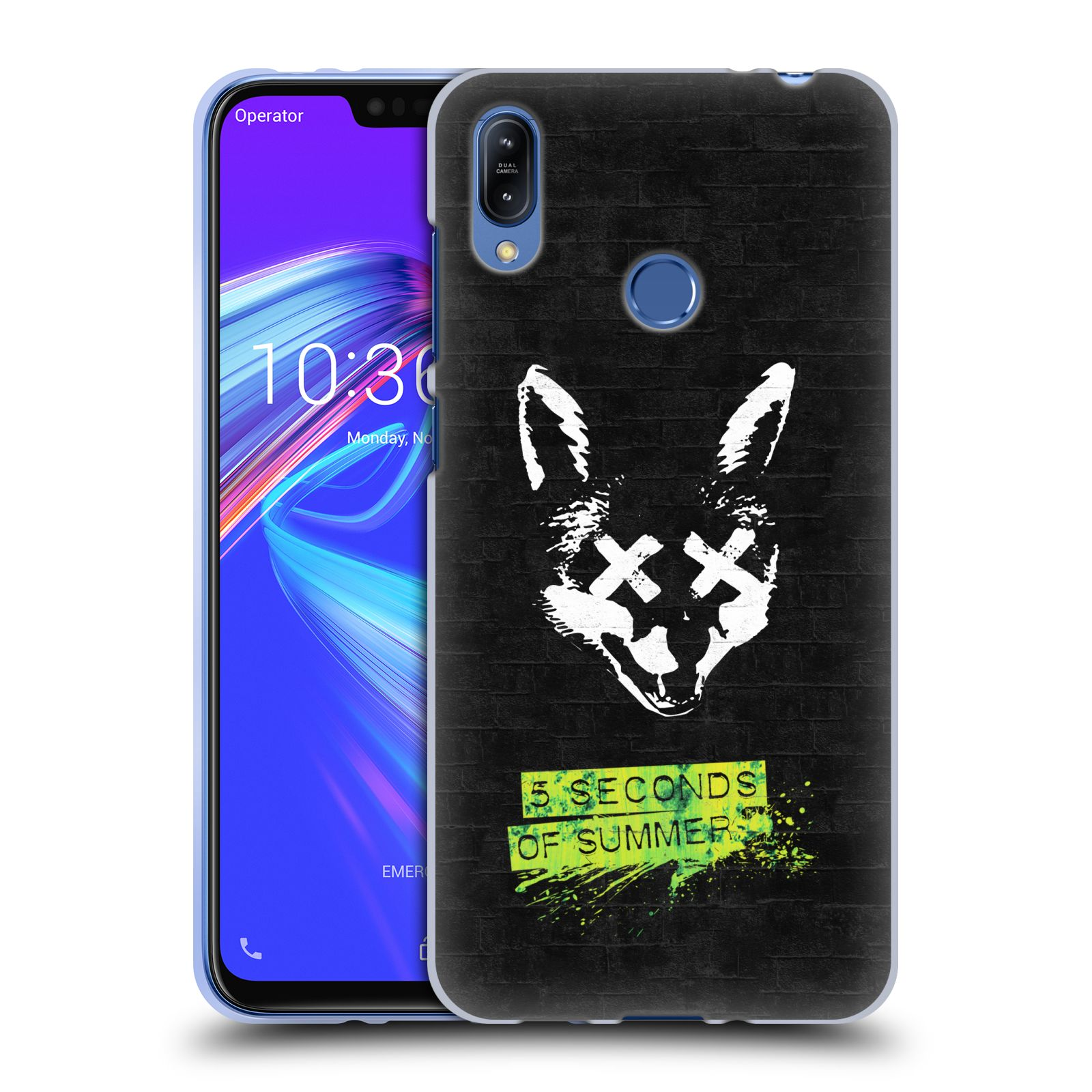 Silikonové pouzdro na mobil Asus Zenfone Max (M2) ZB633KL - Head Case - 5 Seconds of Summer - Fox
