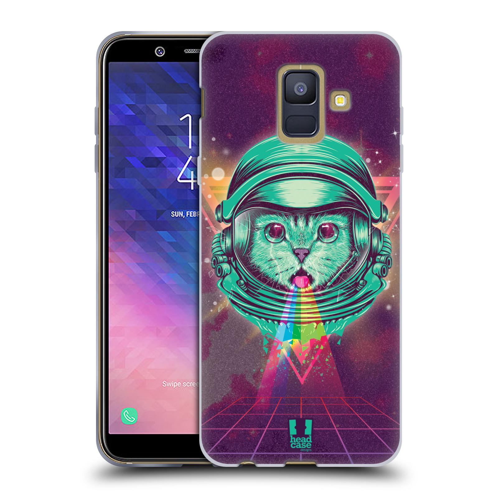 Silikonové pouzdro na mobil Samsung Galaxy A6 (2018) - Head Case - Kóča ve skafandru