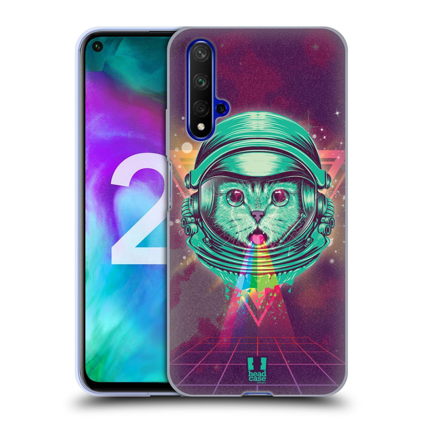 Silikonové pouzdro na mobil Honor 20 - Head Case - Kóča ve skafandru