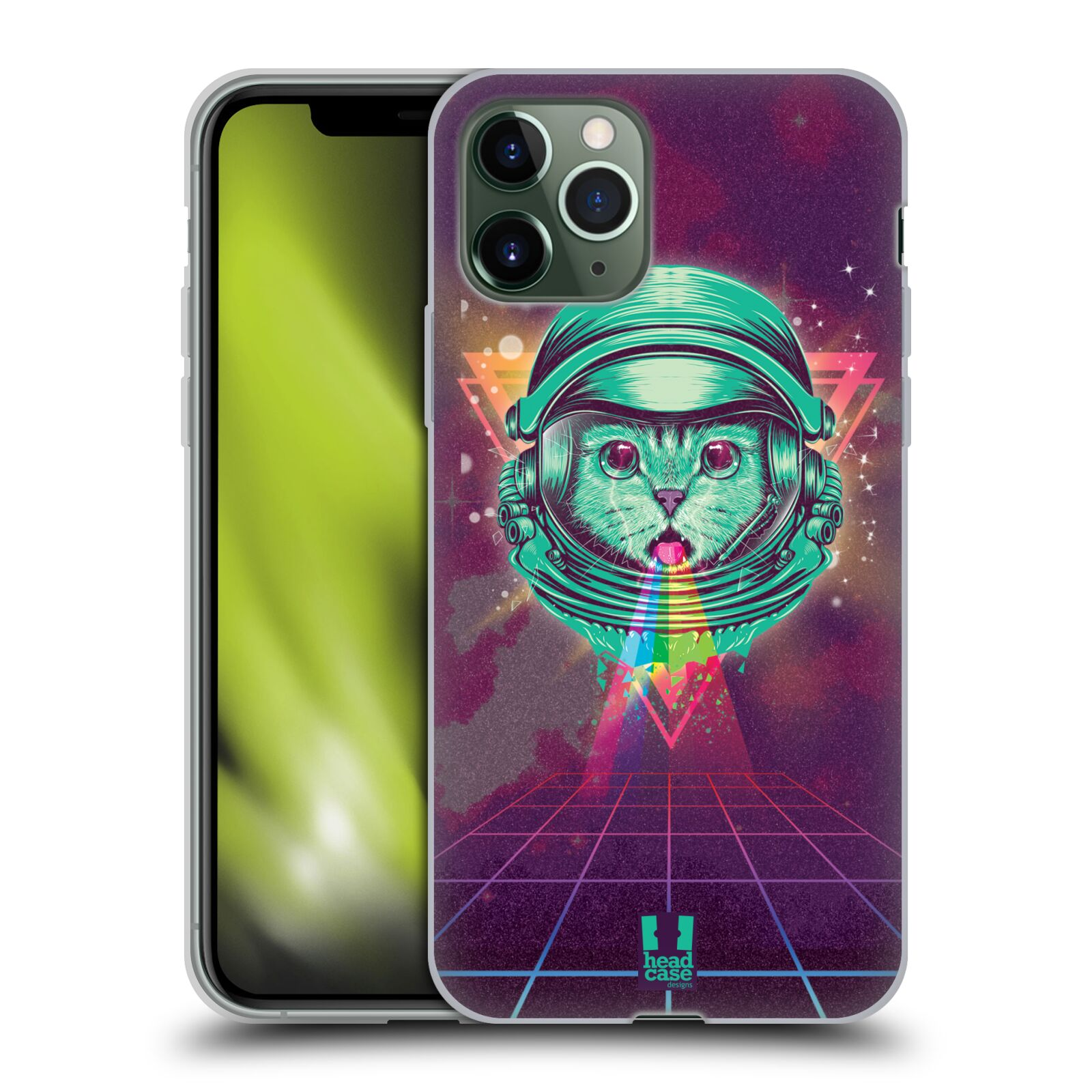iphone 7 plus apple obal - Silikonové pouzdro na mobil Apple iPhone 11 Pro - Head Case - Kóča ve skafandru