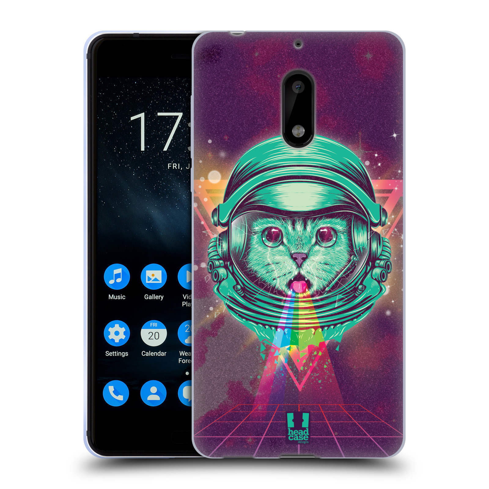 Silikonové pouzdro na mobil Nokia 6 - Head Case - Kóča ve skafandru