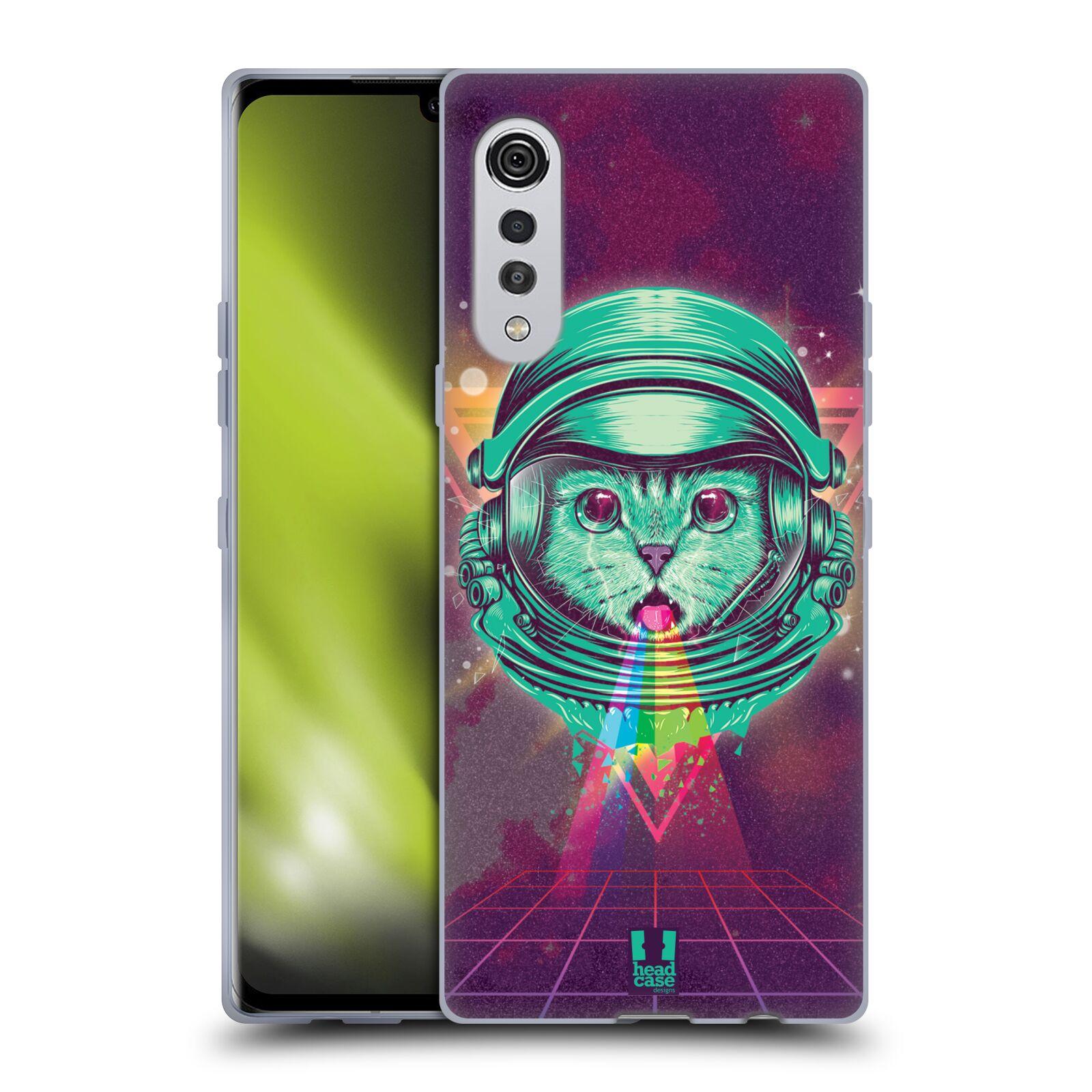 Silikonové pouzdro na mobil LG Velvet - Head Case - Kóča ve skafandru