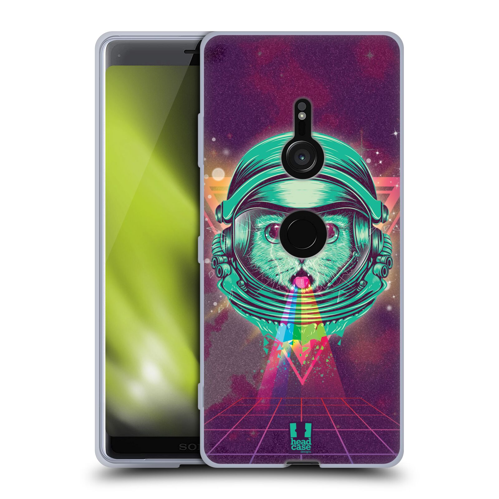 Silikonové pouzdro na mobil Sony Xperia XZ3 - Head Case - Kóča ve skafandru