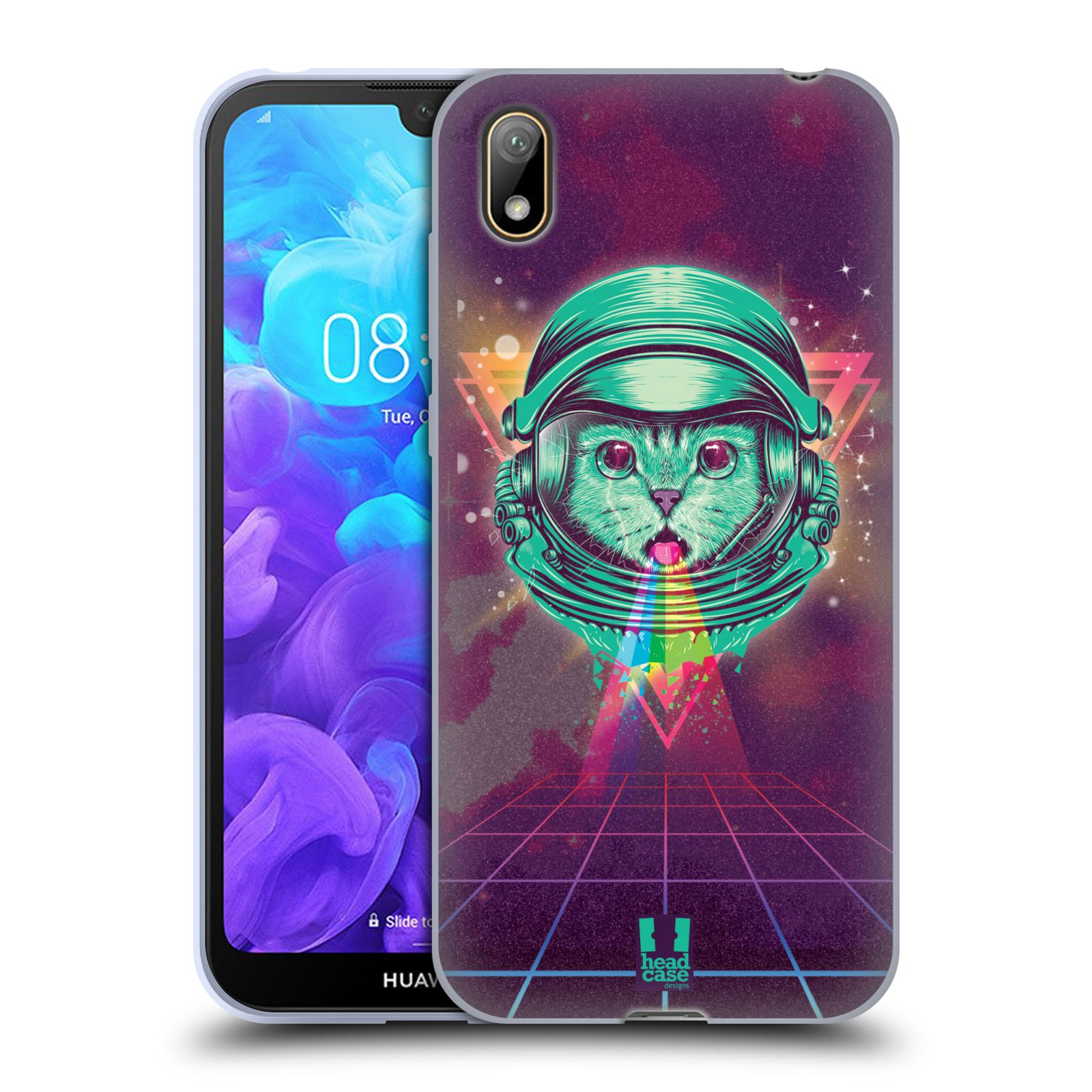 Silikonové pouzdro na mobil Huawei Y5 (2019) - Head Case - Kóča ve skafandru