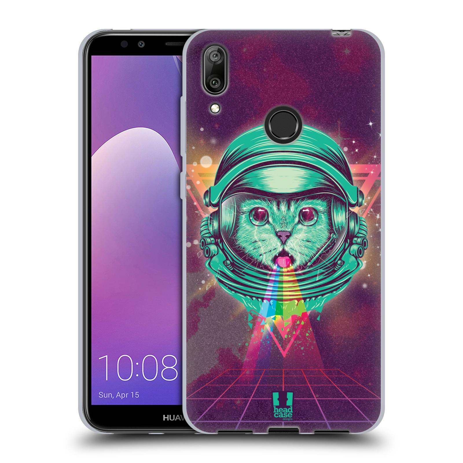 Silikonové pouzdro na mobil Huawei Y7 (2019) - Head Case - Kóča ve skafandru