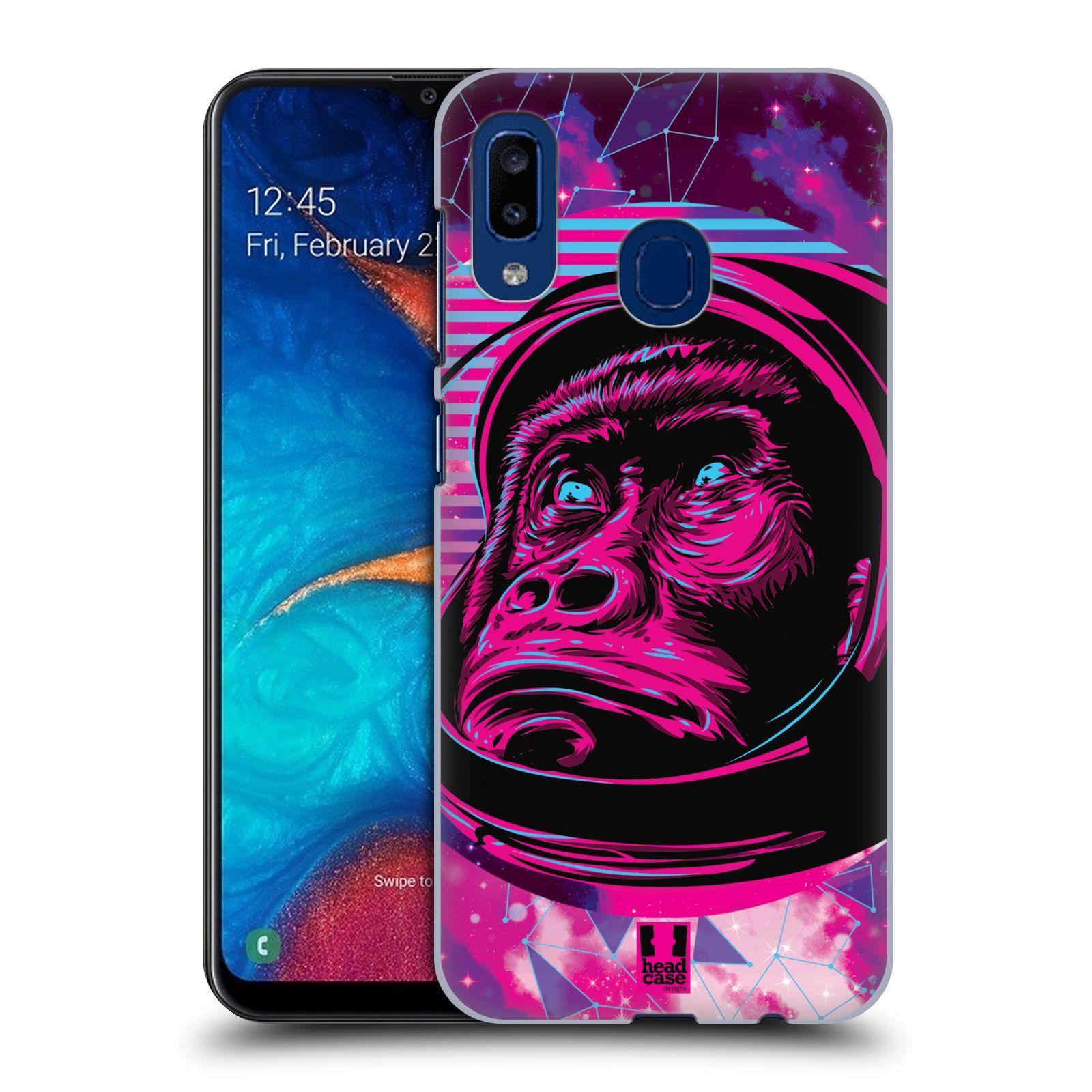 Plastové pouzdro na mobil Samsung Galaxy A20 - Head Case - Gorila ve skafandru