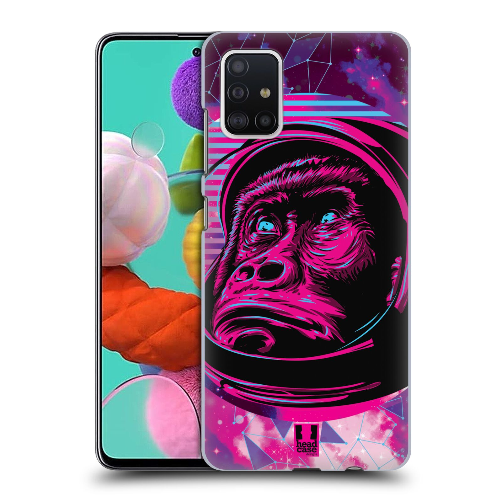 Plastové pouzdro na mobil Samsung Galaxy A51 - Head Case - Gorila ve skafandru