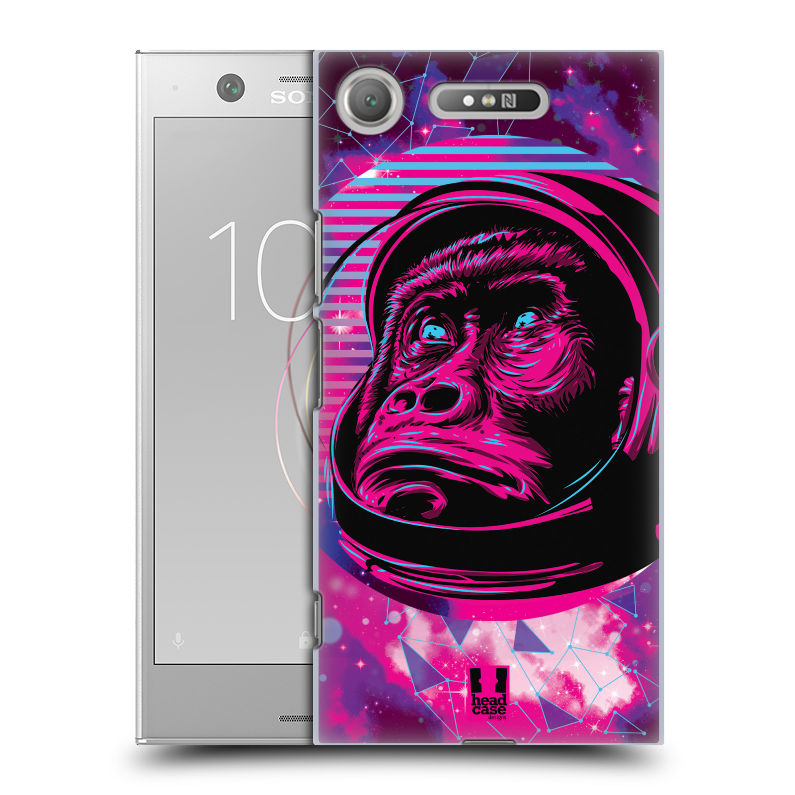 Plastové pouzdro na mobil Sony Xperia XZ1 - Head Case - Gorila ve skafandru