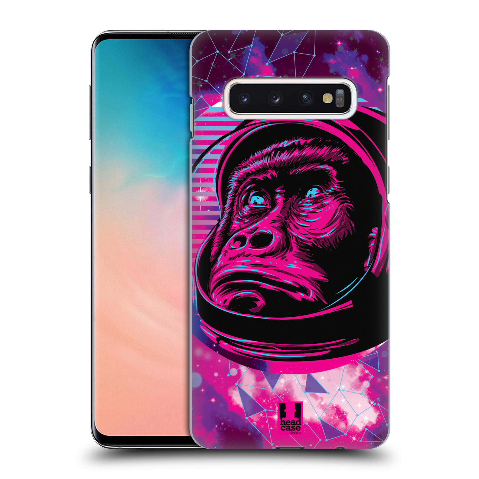 Plastové pouzdro na mobil Samsung Galaxy S10 - Head Case - Gorila ve skafandru