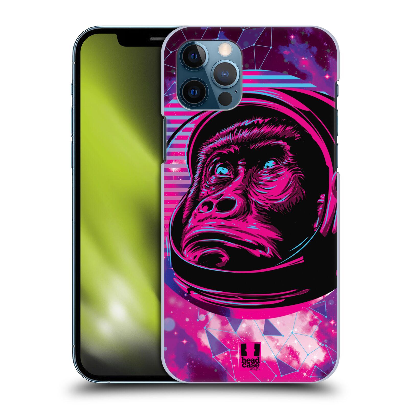 Plastové pouzdro na mobil Apple iPhone 12 / 12 Pro - Head Case - Gorila ve skafandru