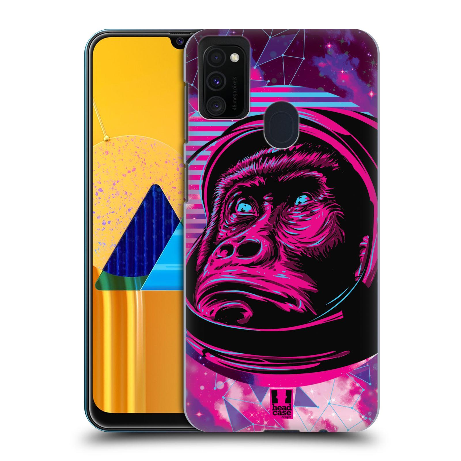 Plastové pouzdro na mobil Samsung Galaxy M21 - Head Case - Gorila ve skafandru