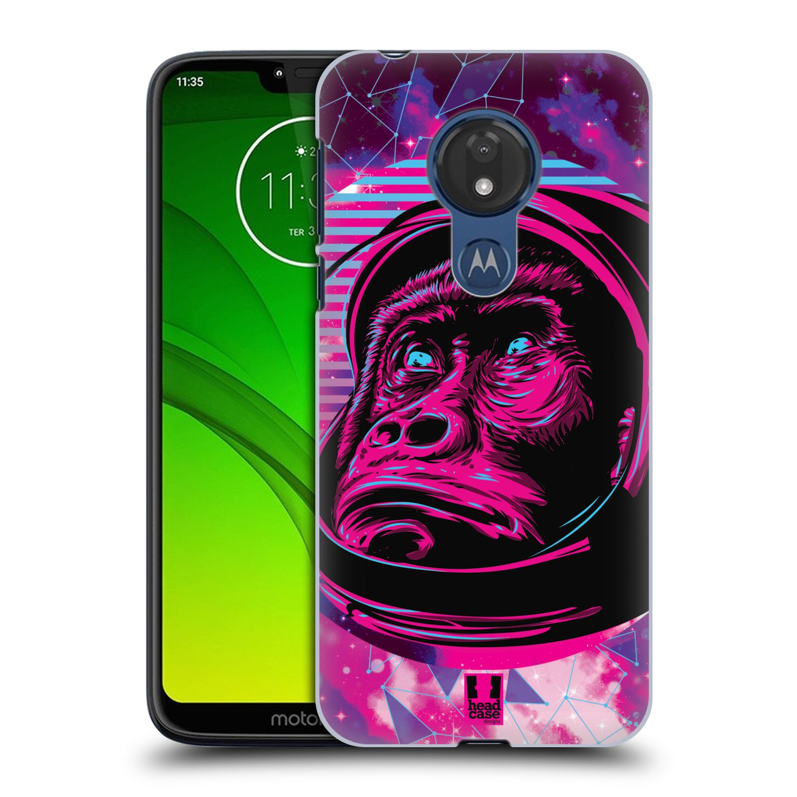 Plastové pouzdro na mobil Motorola Moto G7 Power - Head Case - Gorila ve skafandru